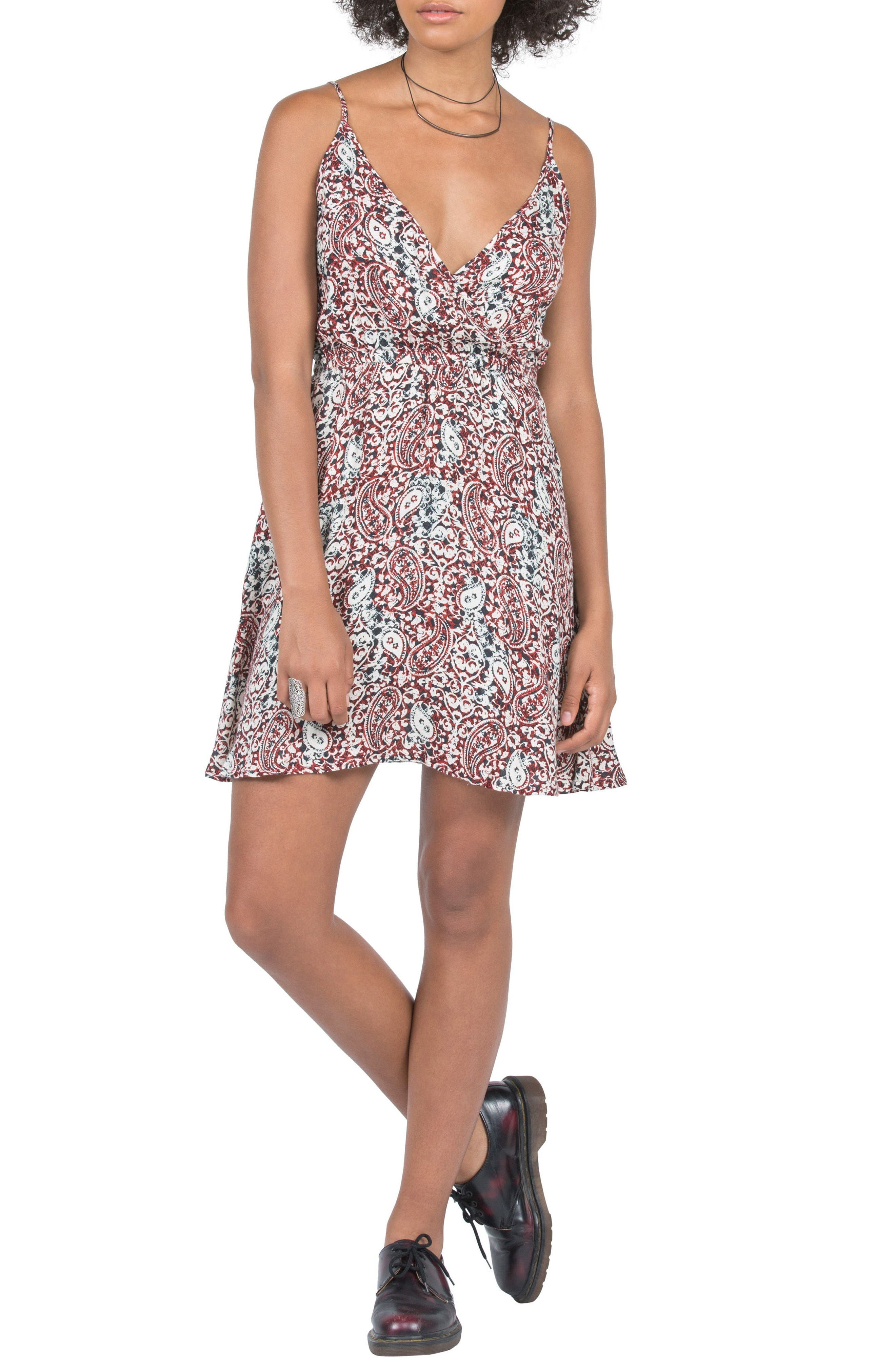 Volcom On the Edge Surplice Dress