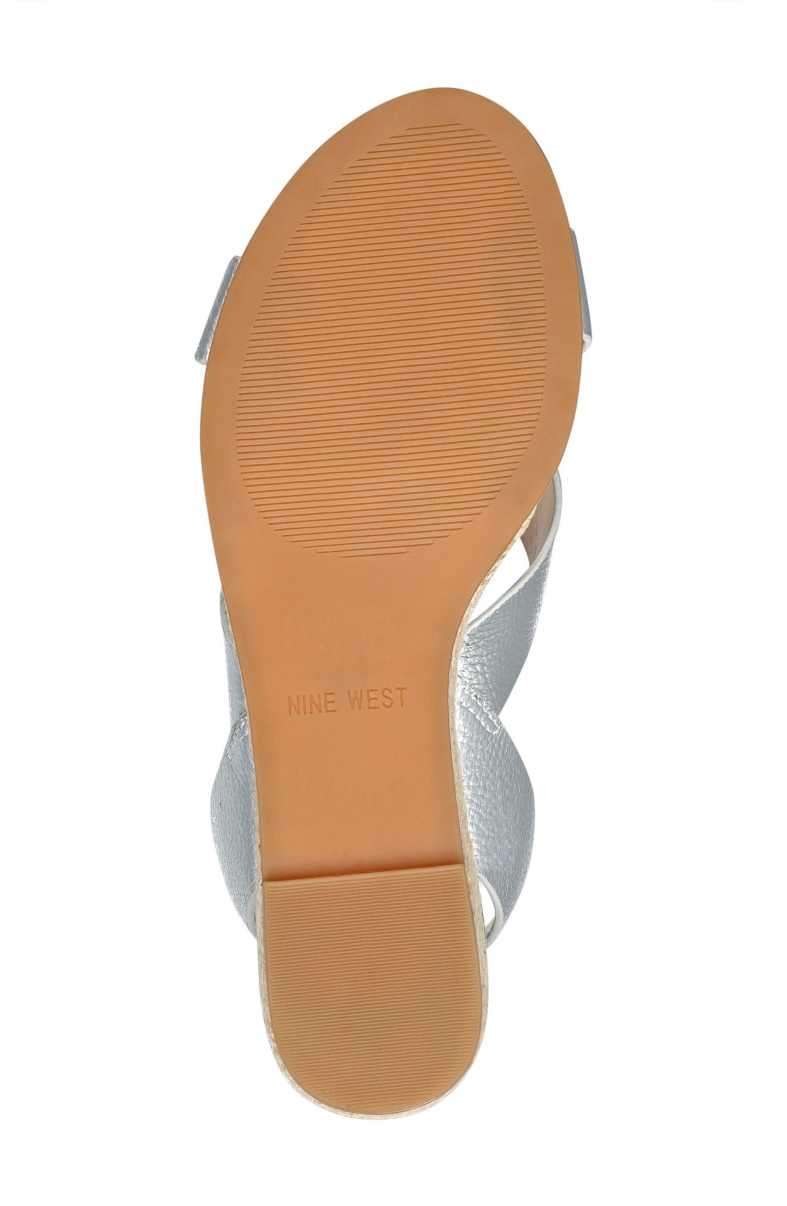 Alternate Image 5  - Nine West Mossa Cross Strap Wedge Sandal (Women)