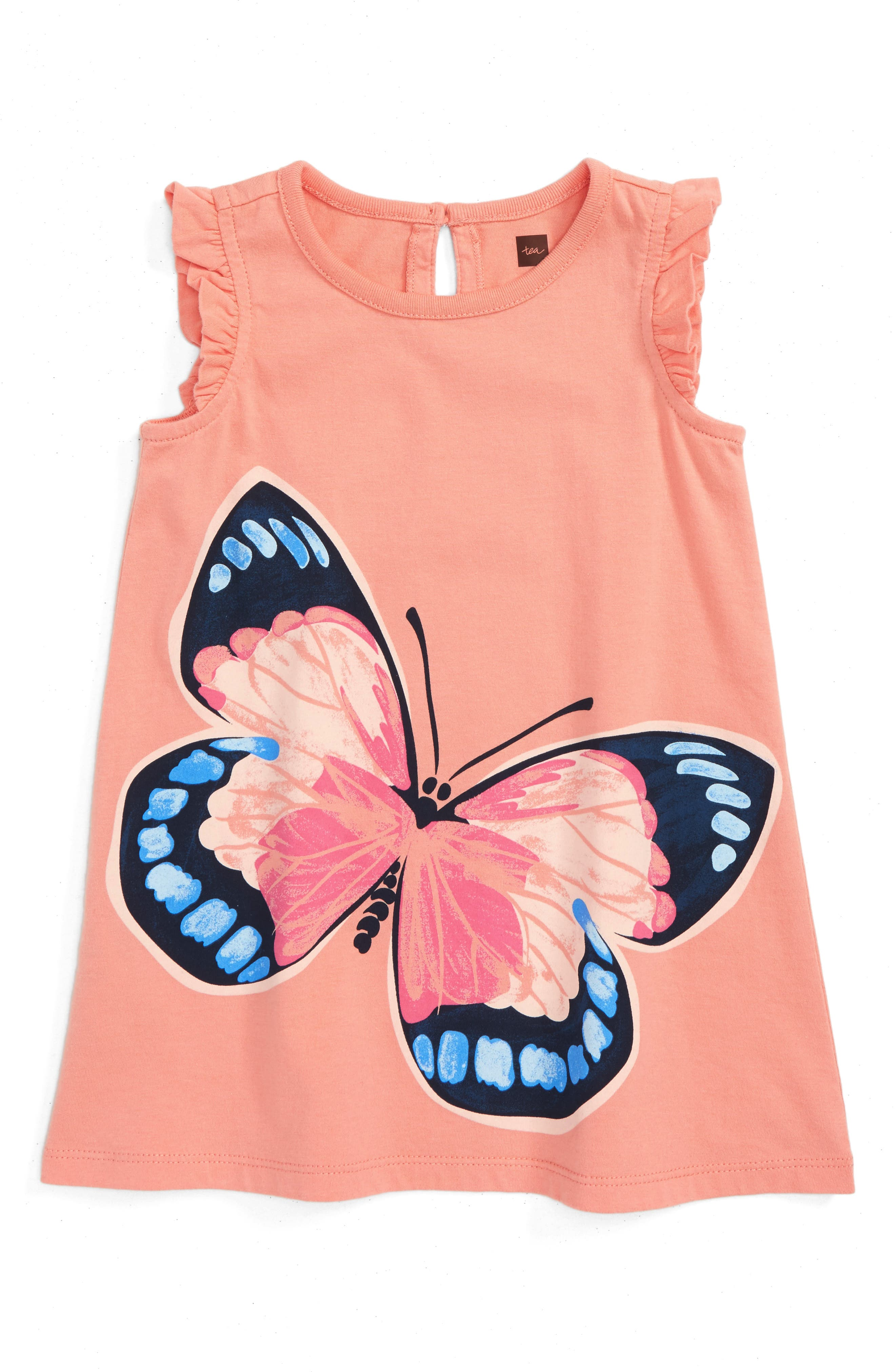 Tea Collection Painted Lady Graphic Dress (Baby Girls)