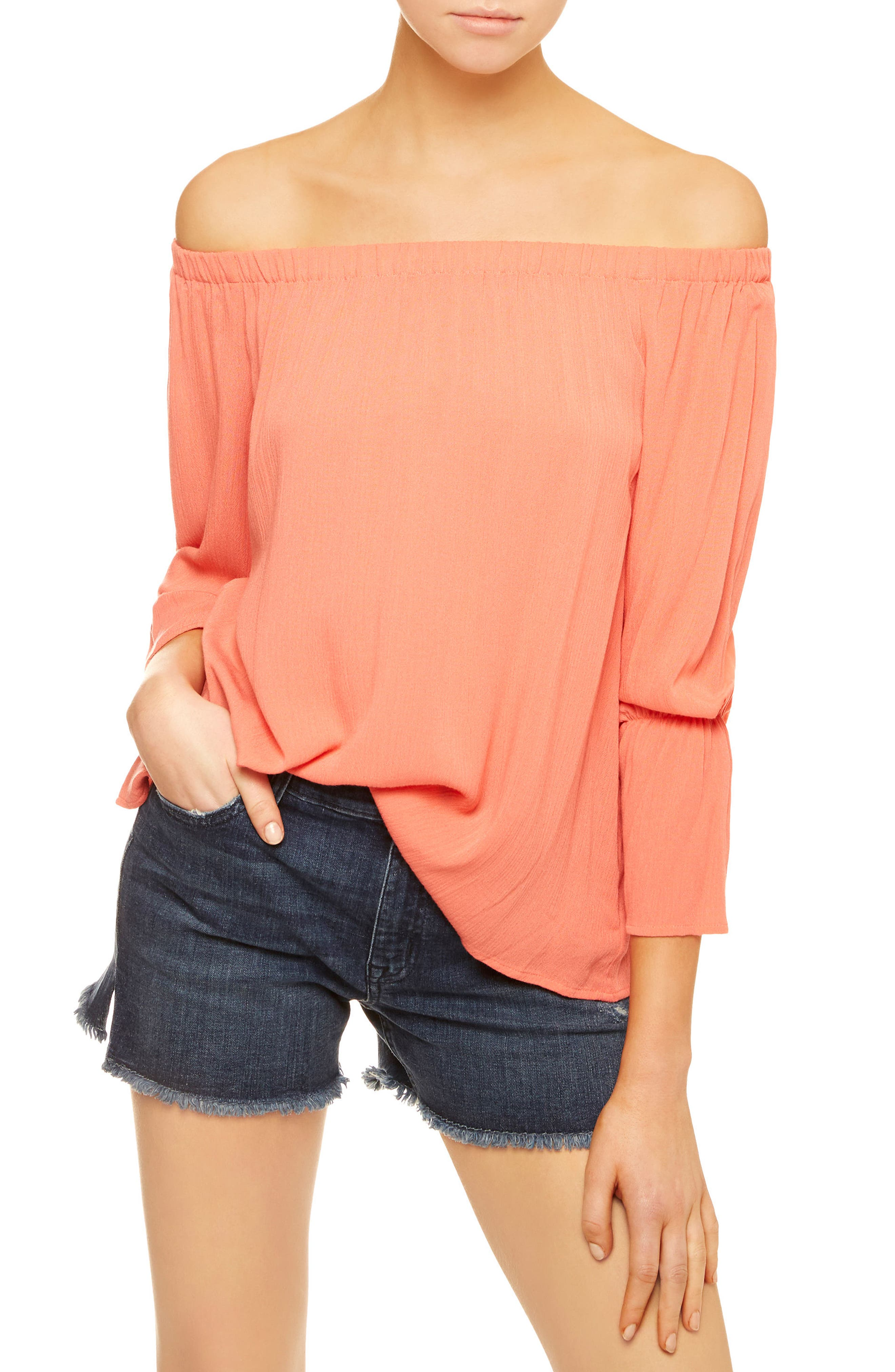 Sanctuary Off the Shoulder Blouse (Regular & Petite)