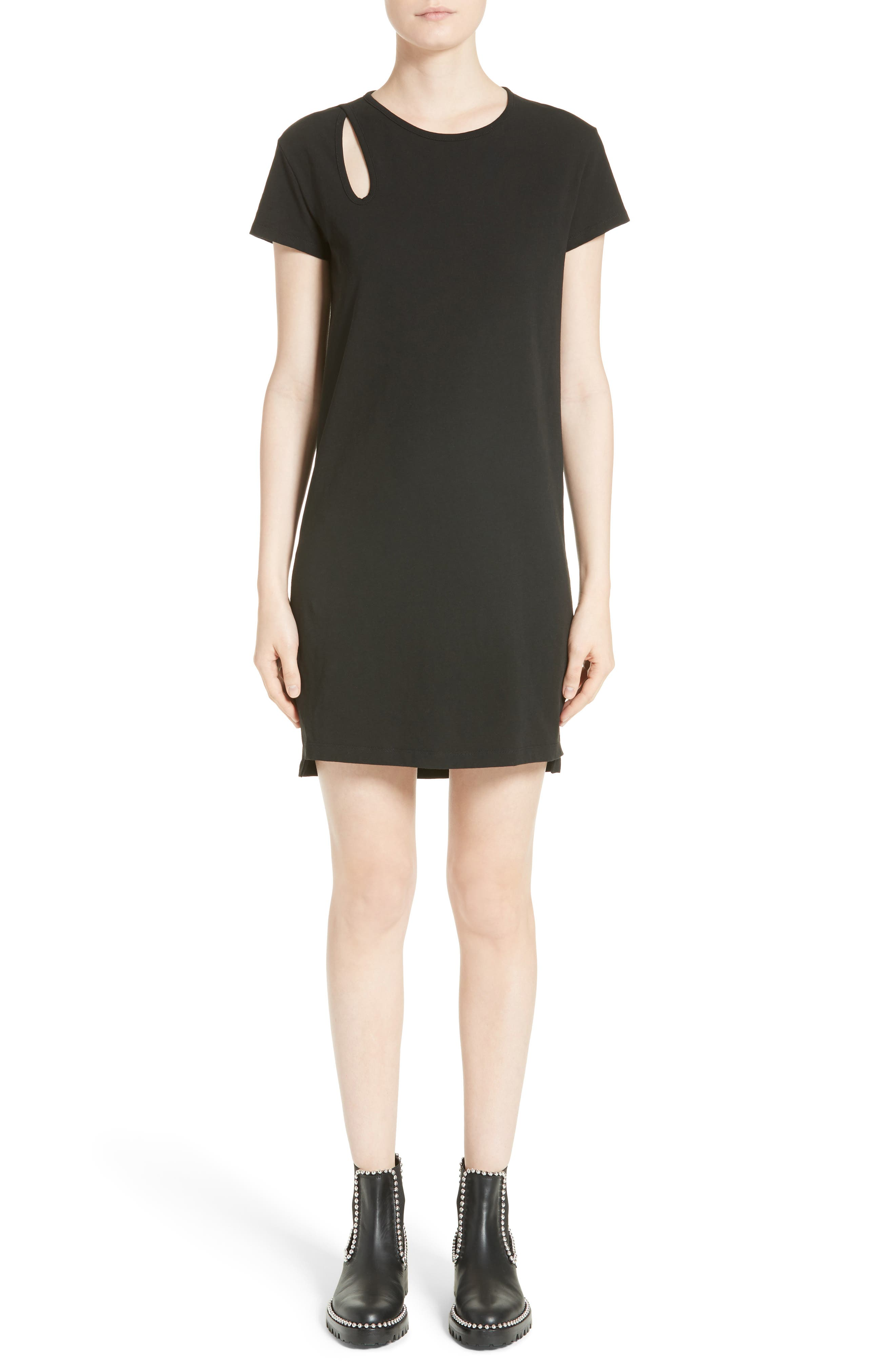 T by Alexander Wang Teardrop Cutout Dress