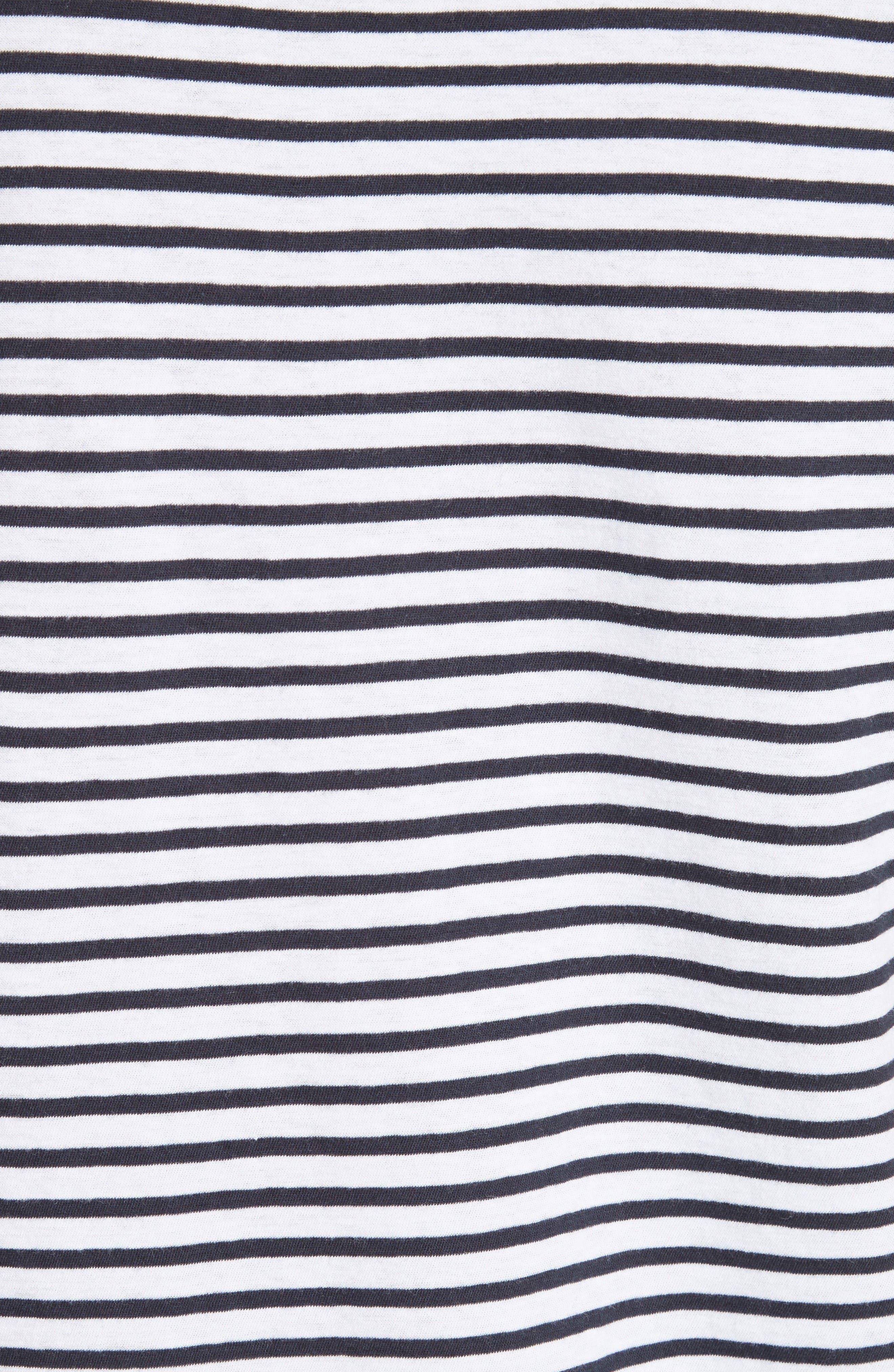 Alternate Image 5  - T by Alexander Wang Stripe T-Shirt Dress