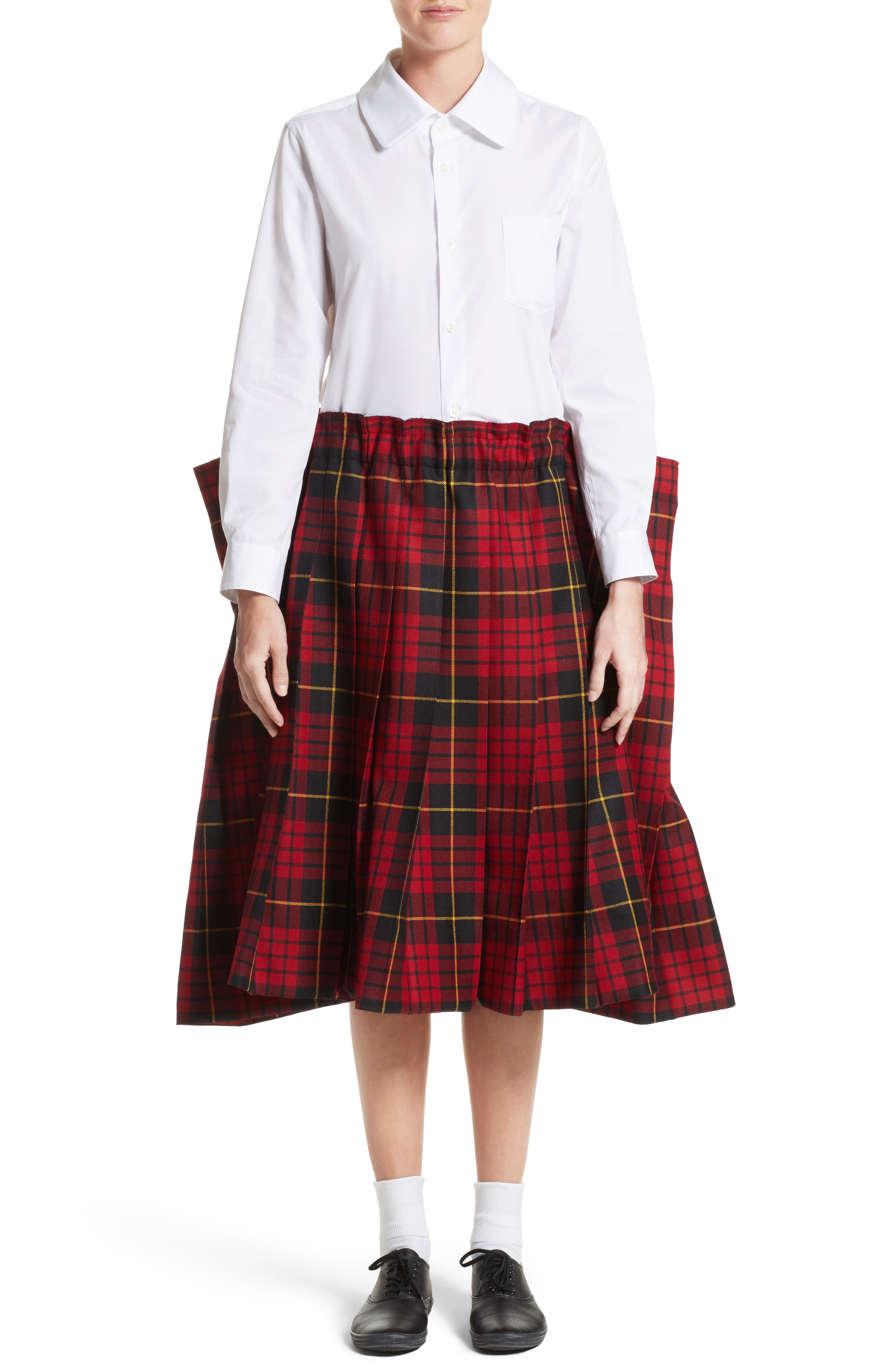 Alternate Image 6  - Comme des Garçons Tartan Check Wool Skirt