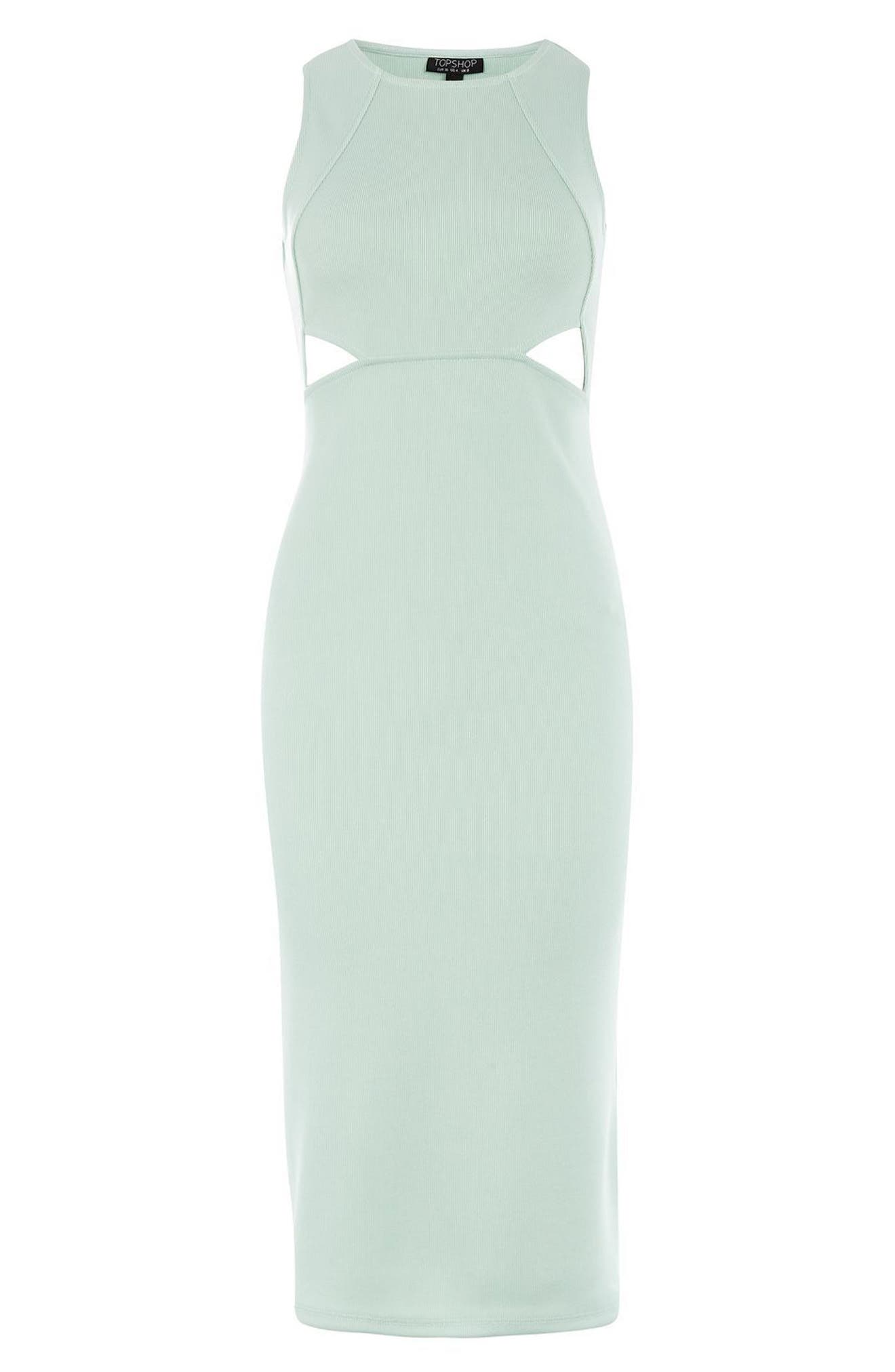 Alternate Image 3  - Topshop Cutout Ribbed Body-Con Dress