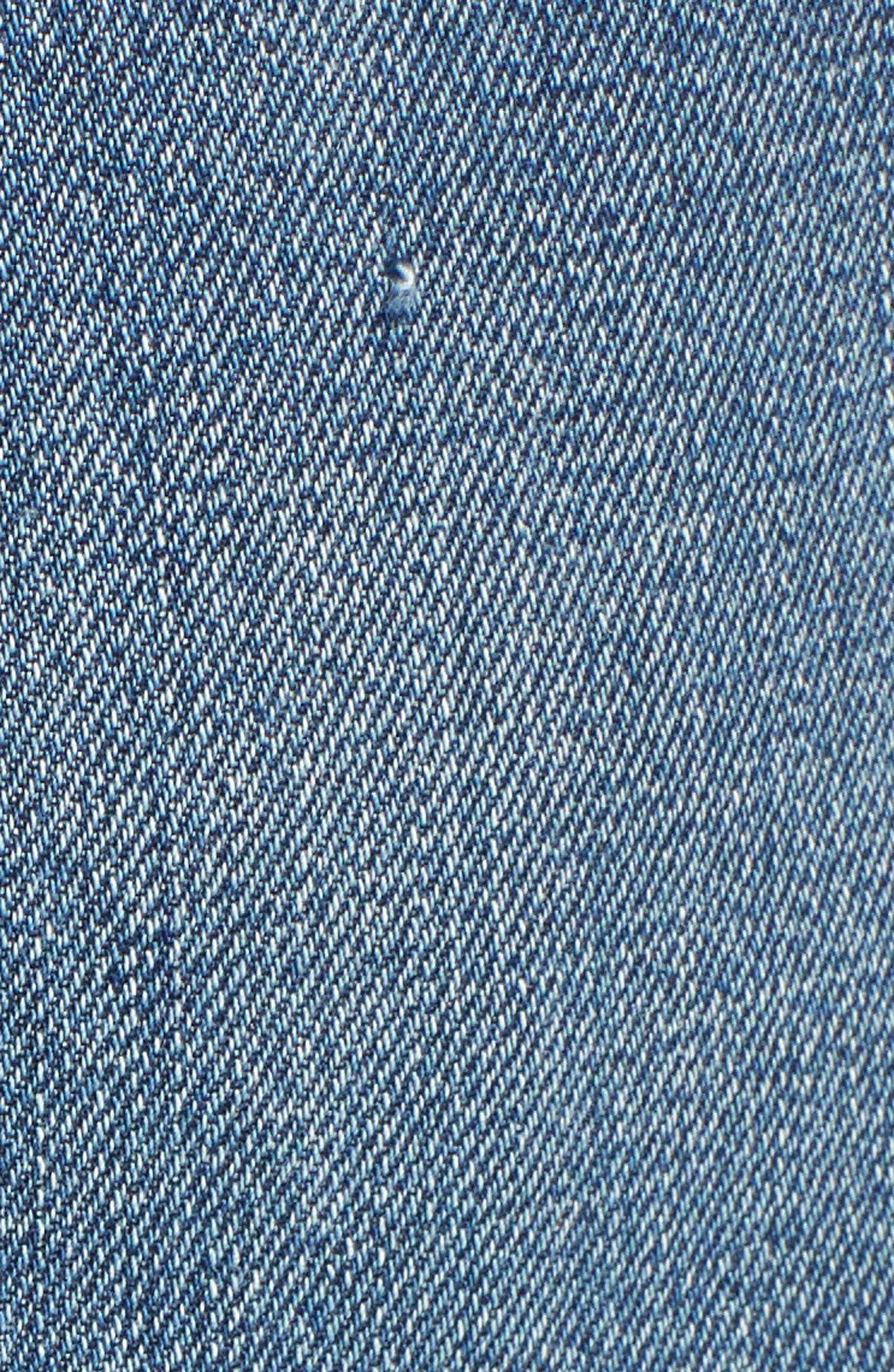 Alternate Image 6  - PAIGE Alethea Cutoff Denim Miniskirt