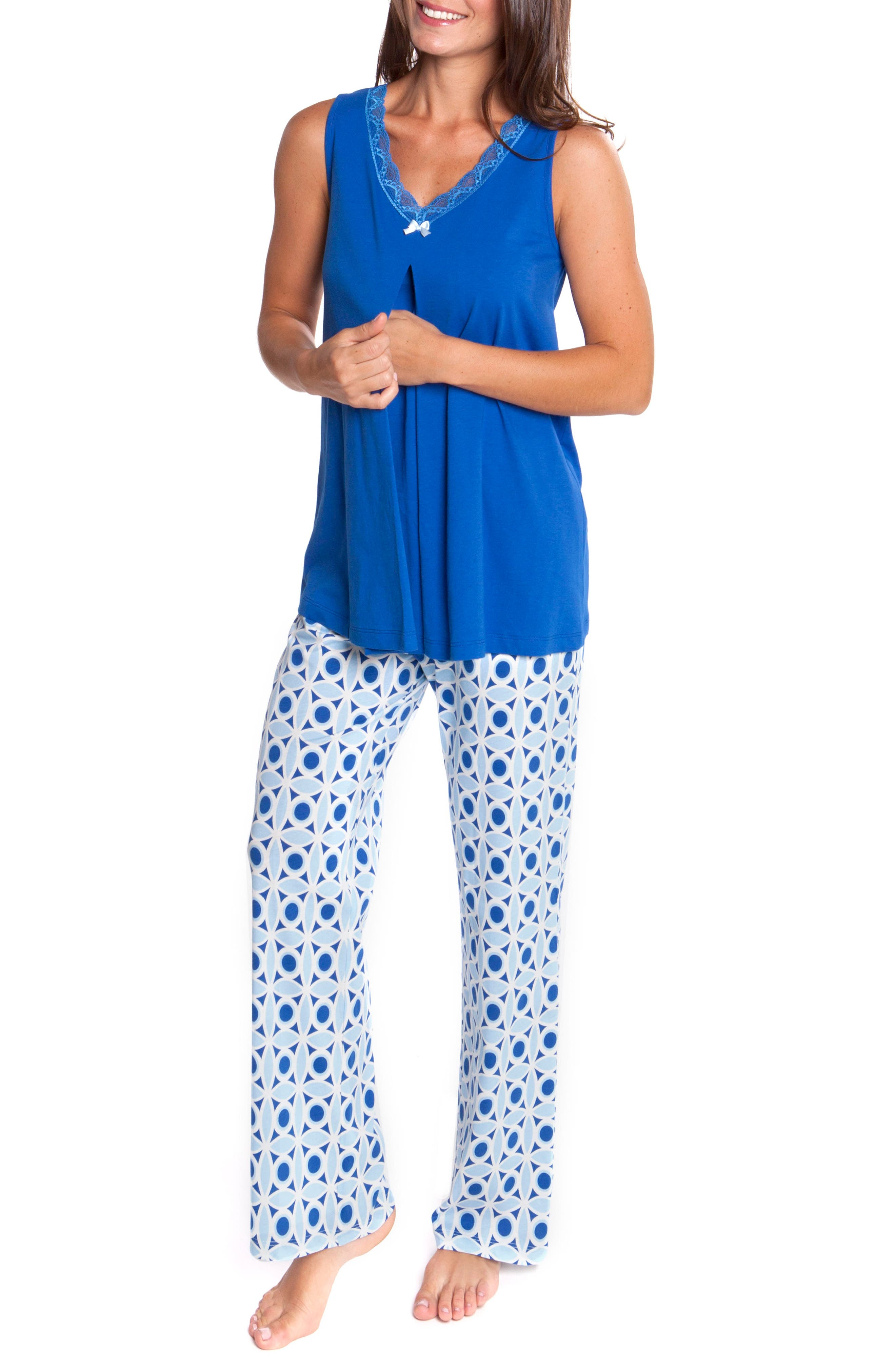 Olian 4-Piece Maternity/Nursing Sleepwear Set