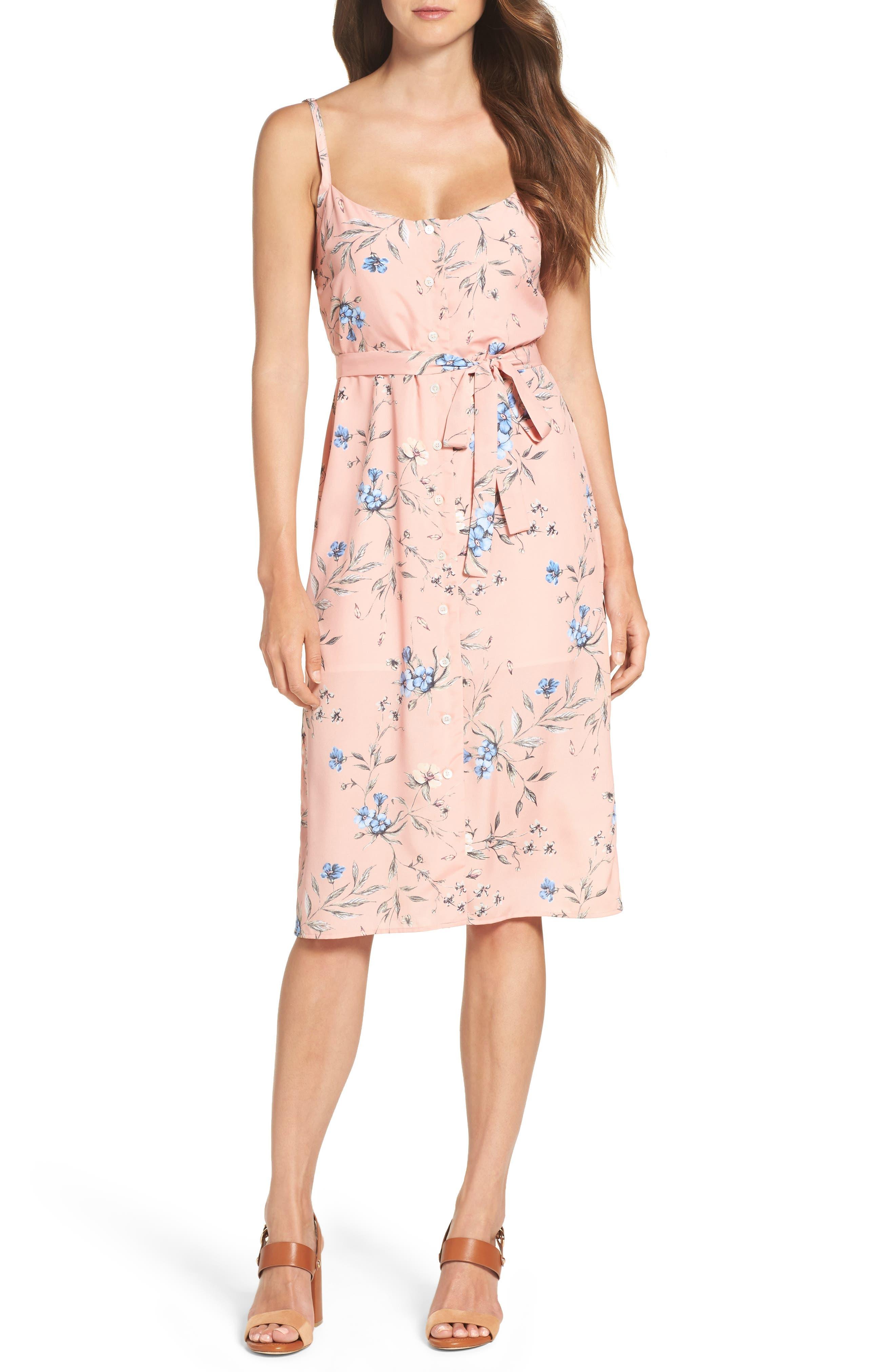 Main Image - Ali & Jay Flower Frolicking Midi Dress