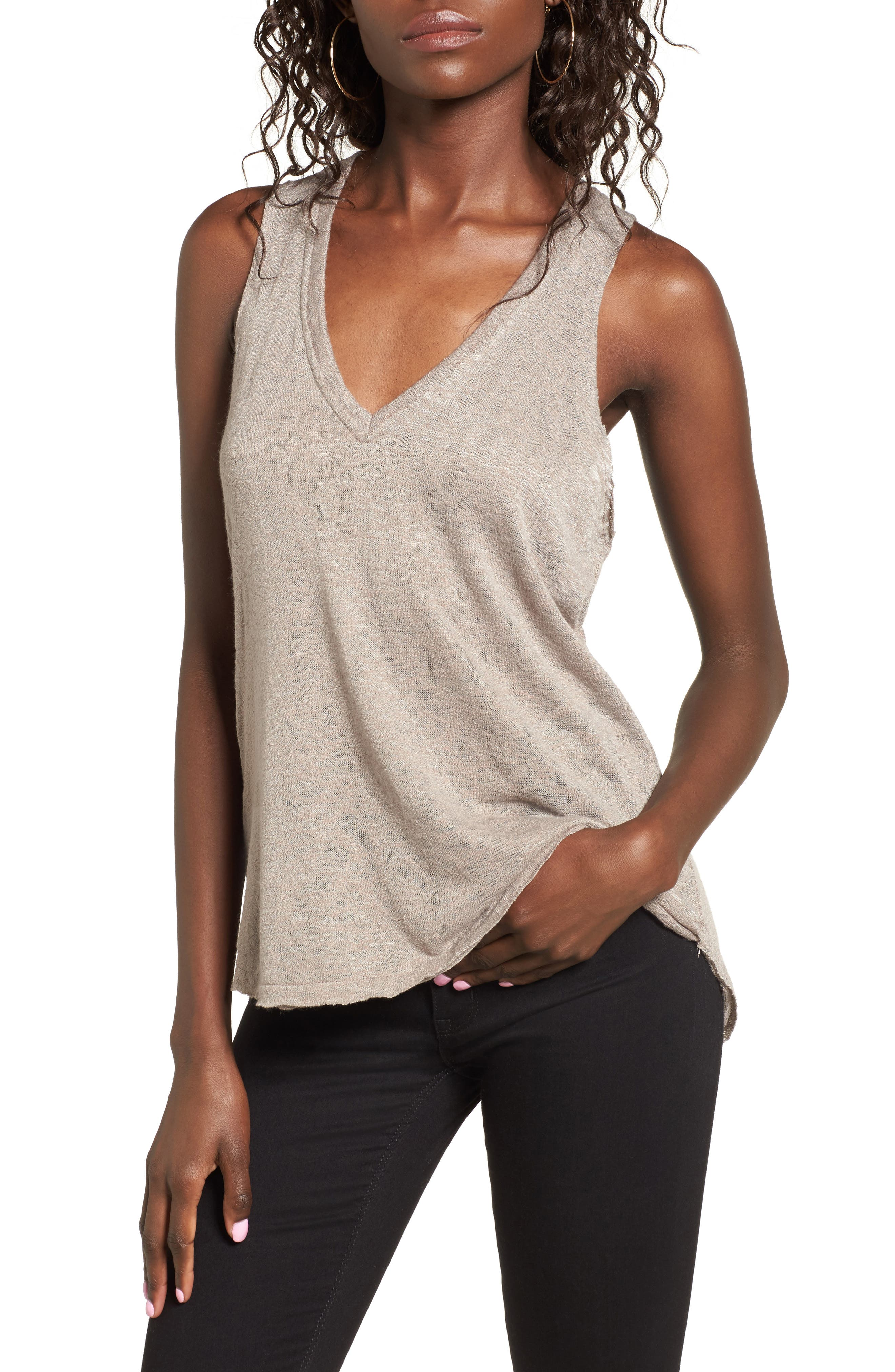 PST by Project Social T Raw Edge Tank