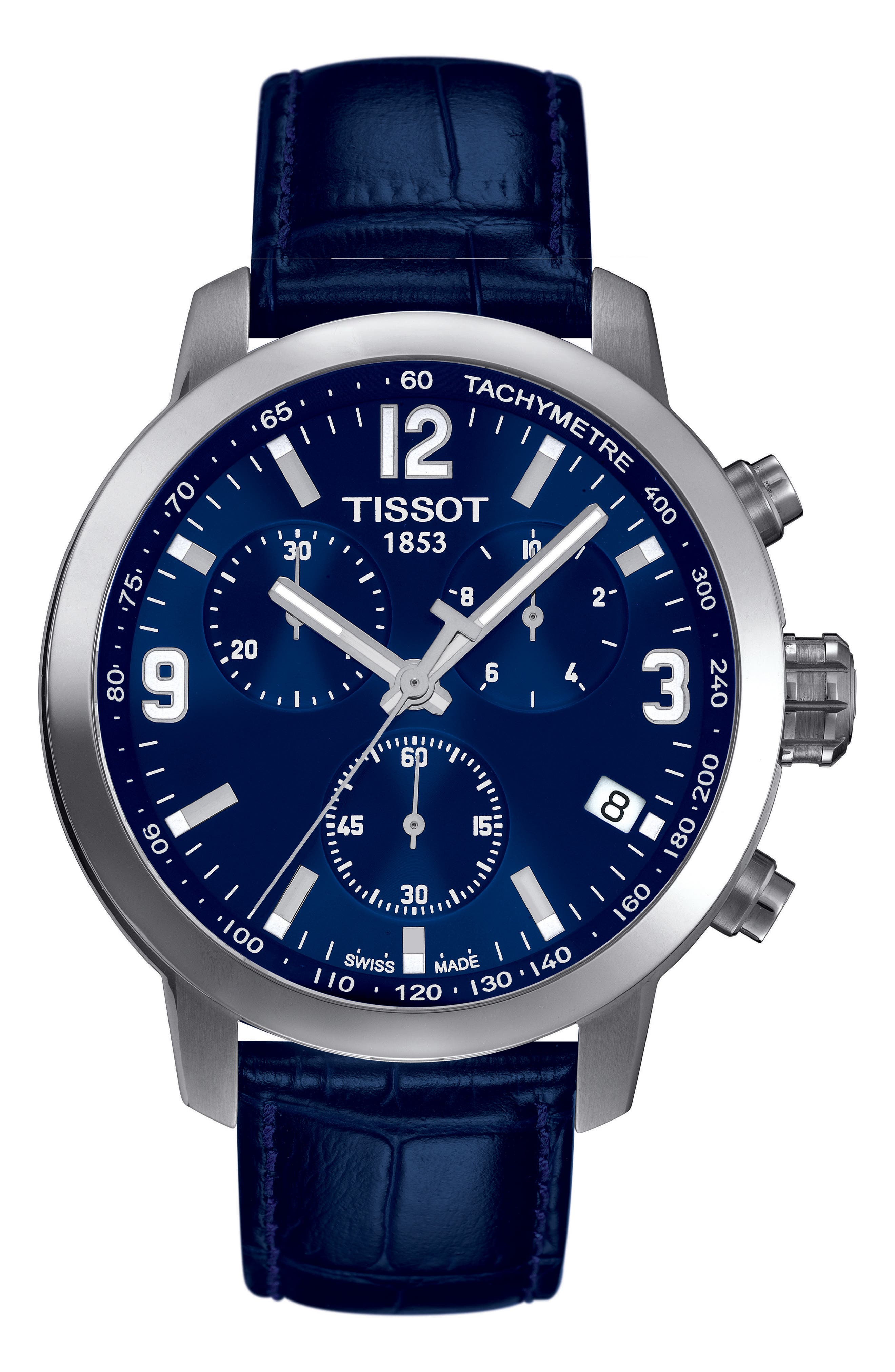 Tissot PRC200 Chronograph Leather Strap Watch, 41mm