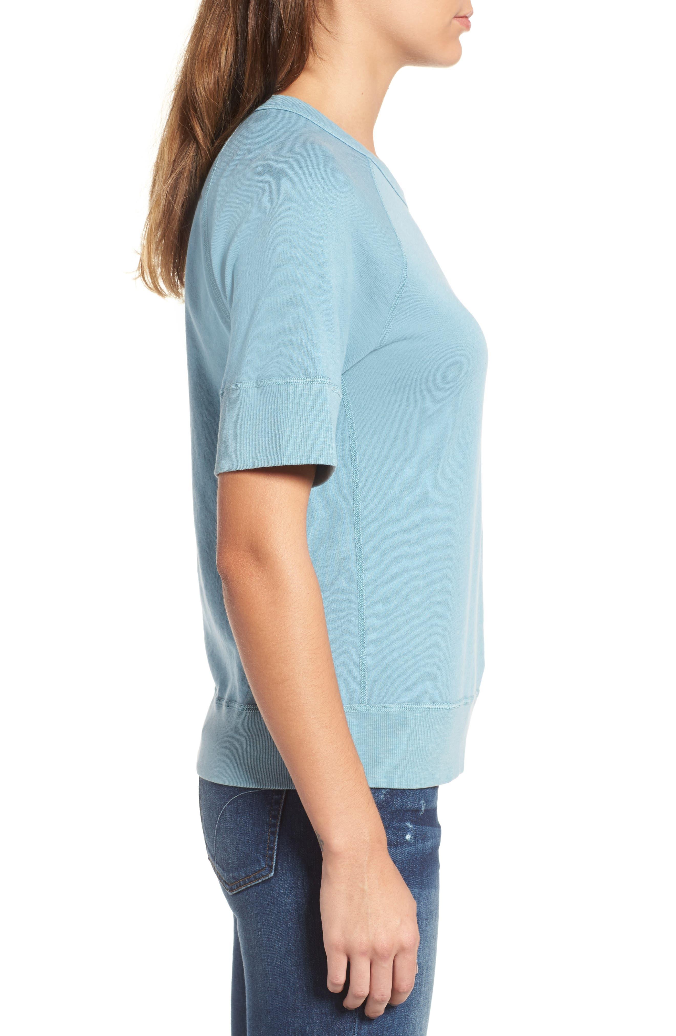 Alternate Image 3  - James Perse Raglan Sleeve Cotton Pullover