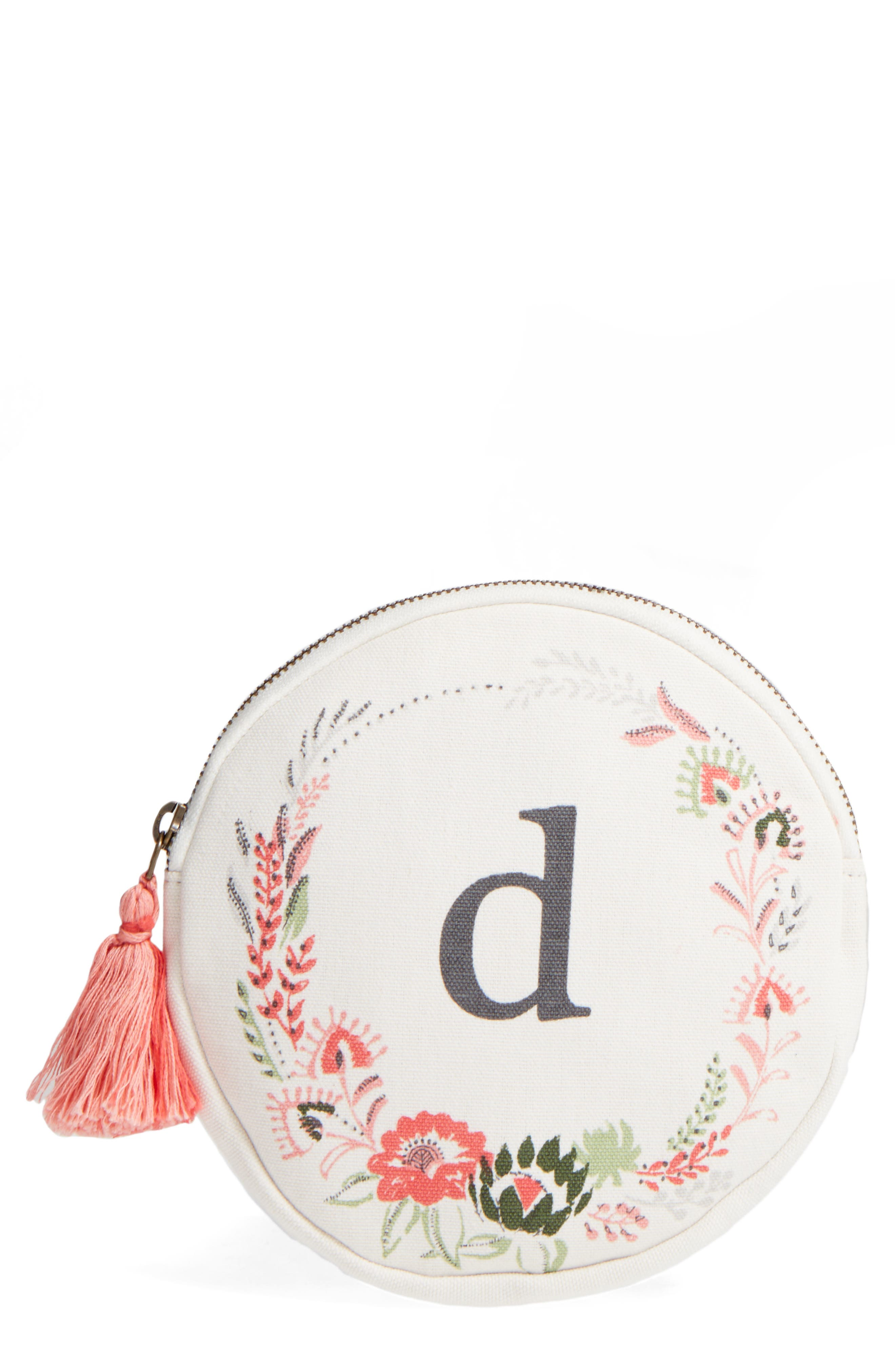 Nordstrom at Home Floral Monogram Pouch