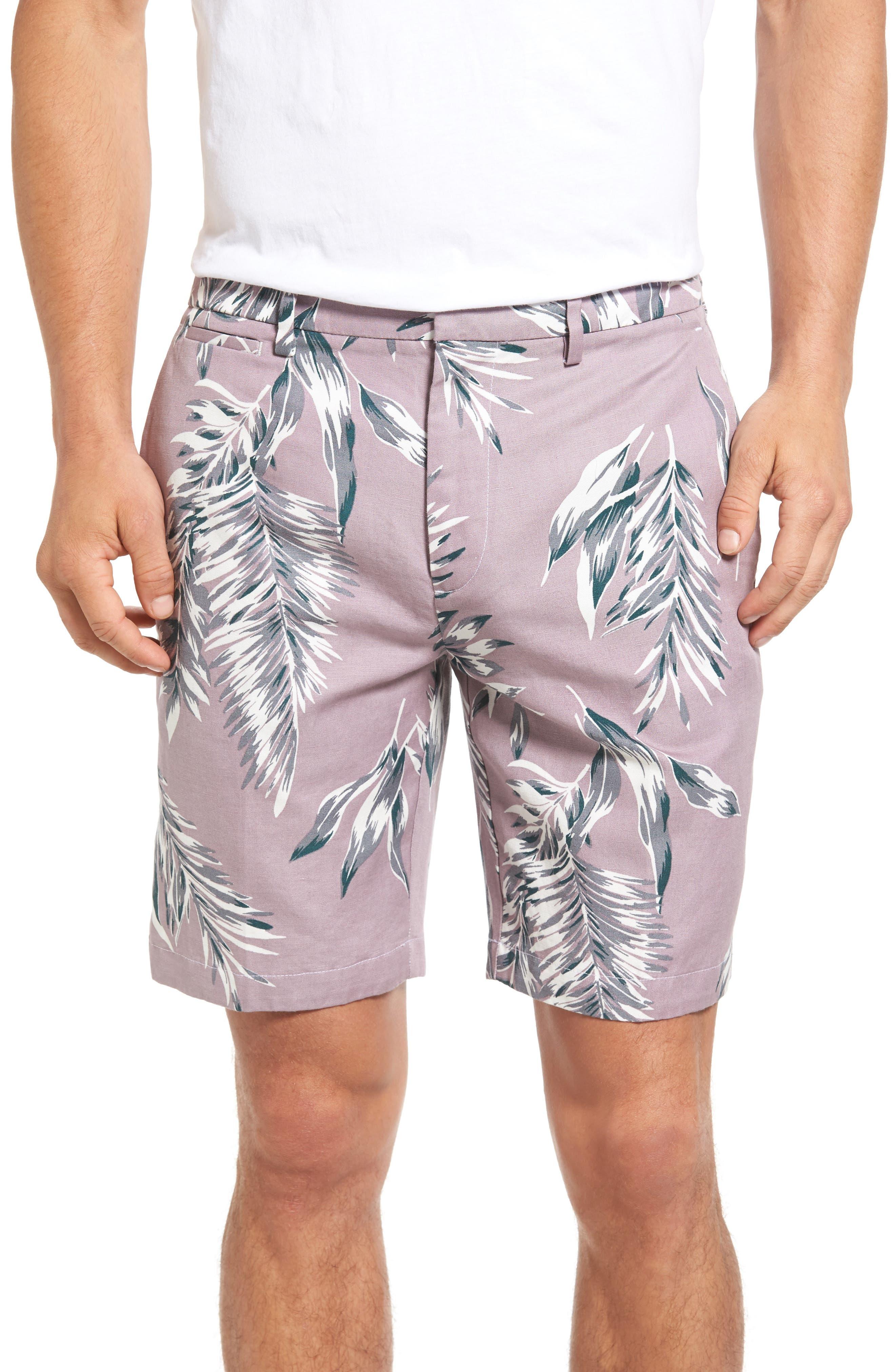 Bonobos Parker Print Linen Blend Shorts