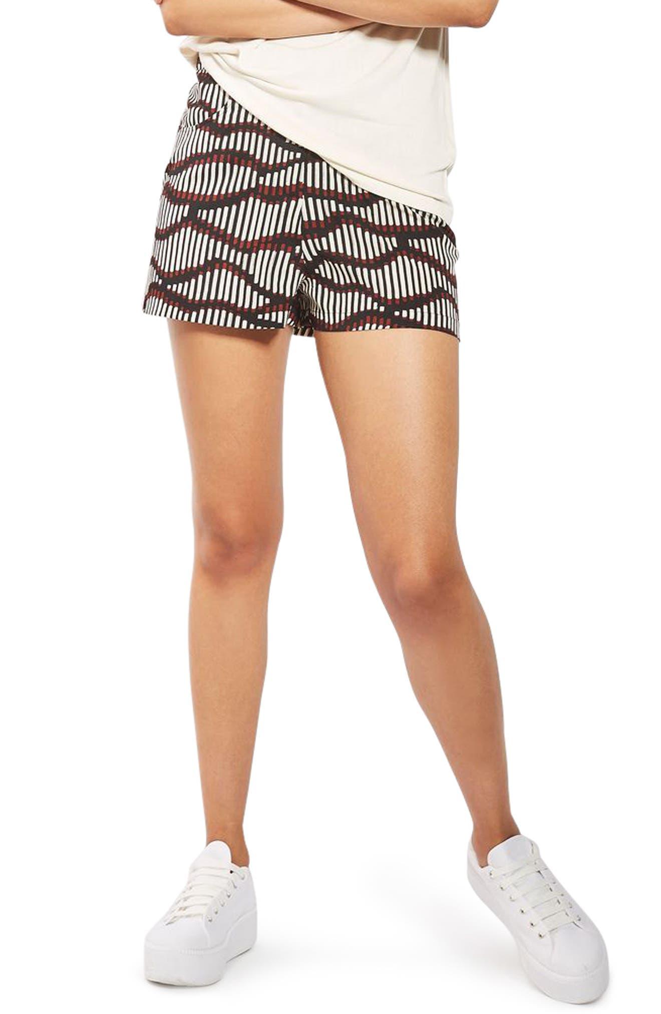 Main Image - Topshop Matchstick Print Shorts