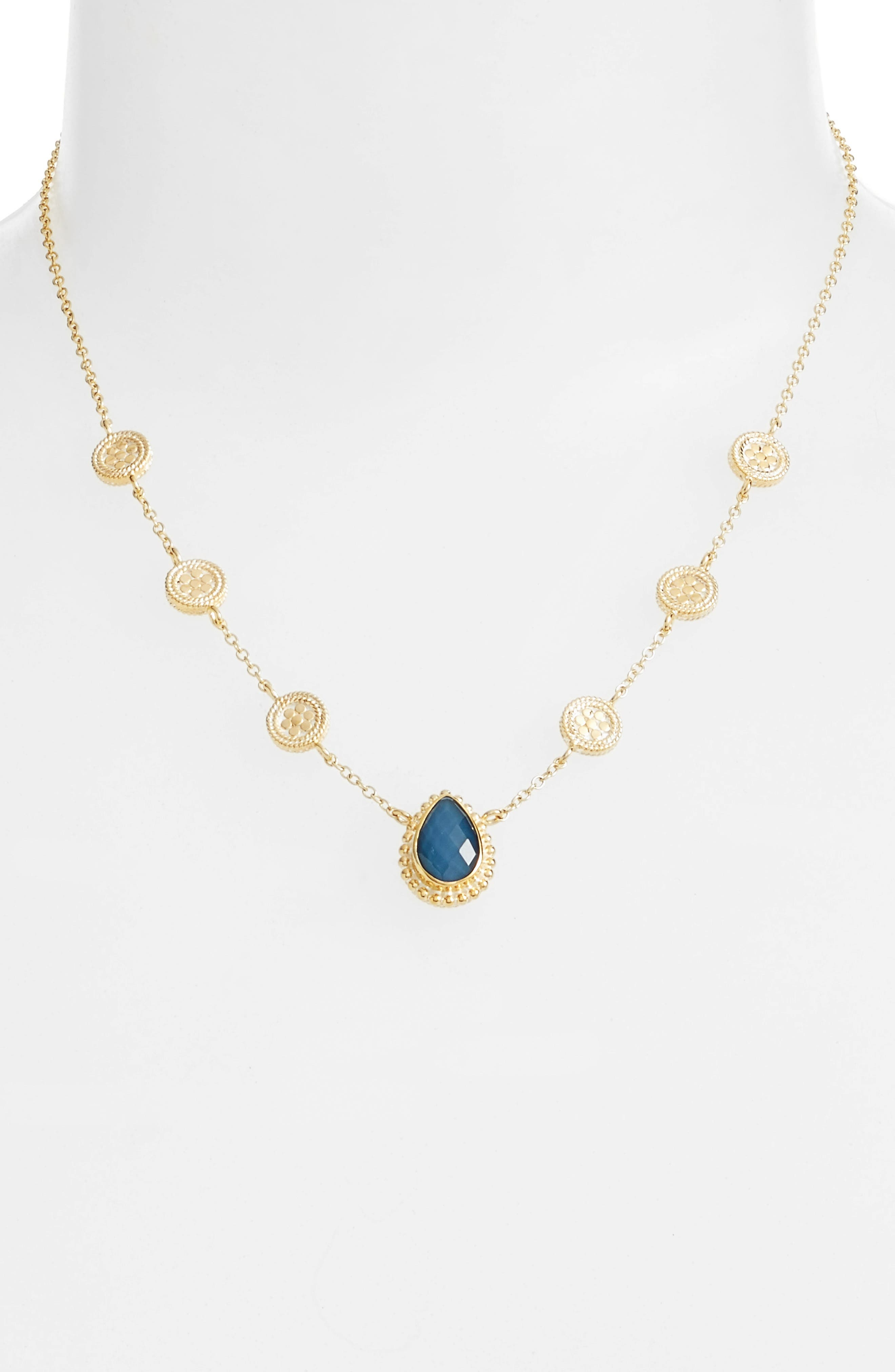 Anna Beck Blue Quartz Reversible Collar Necklace