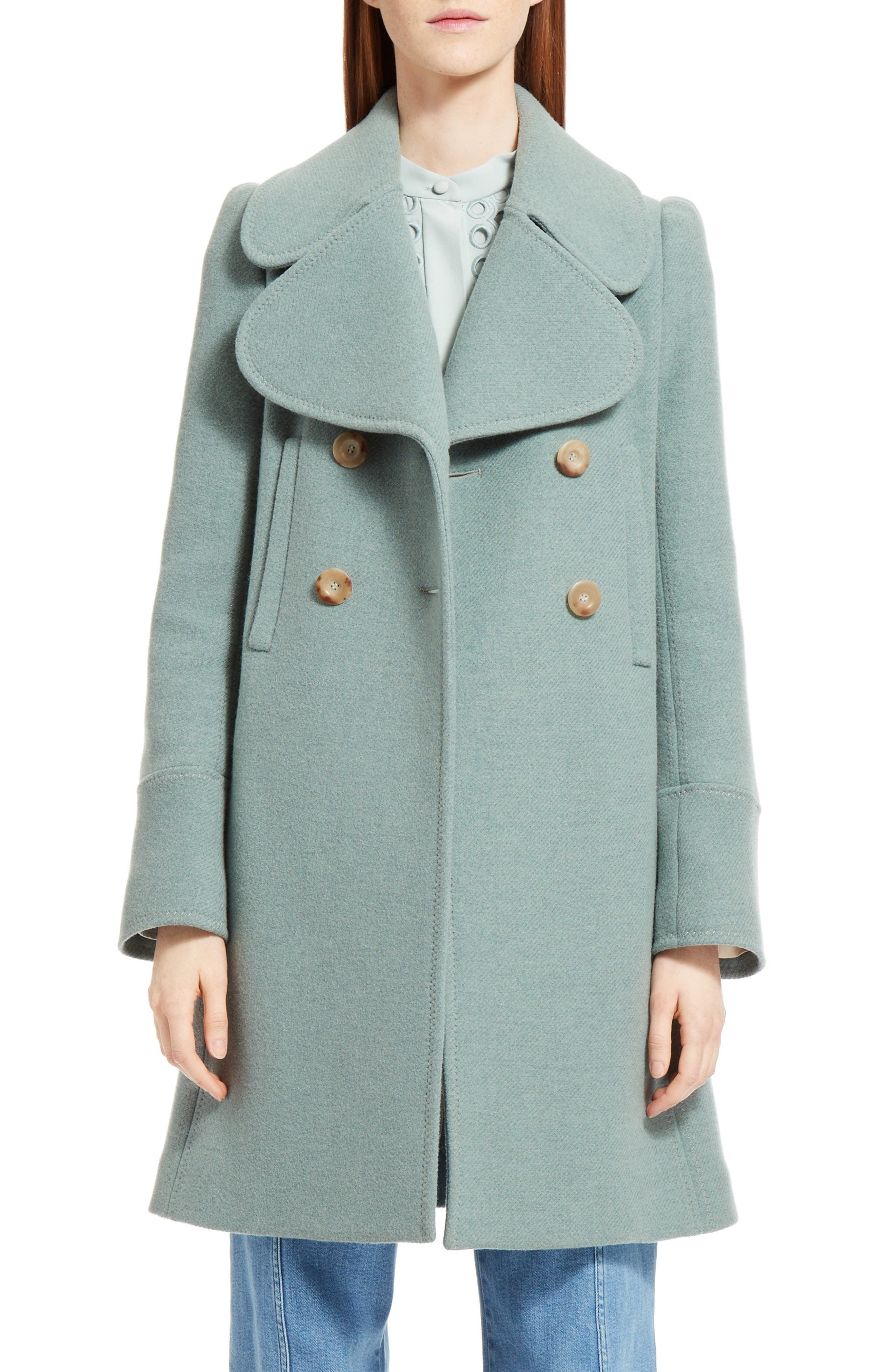 Alternate Image 1 Selected - Chloé Iconic Wool Blend Coat