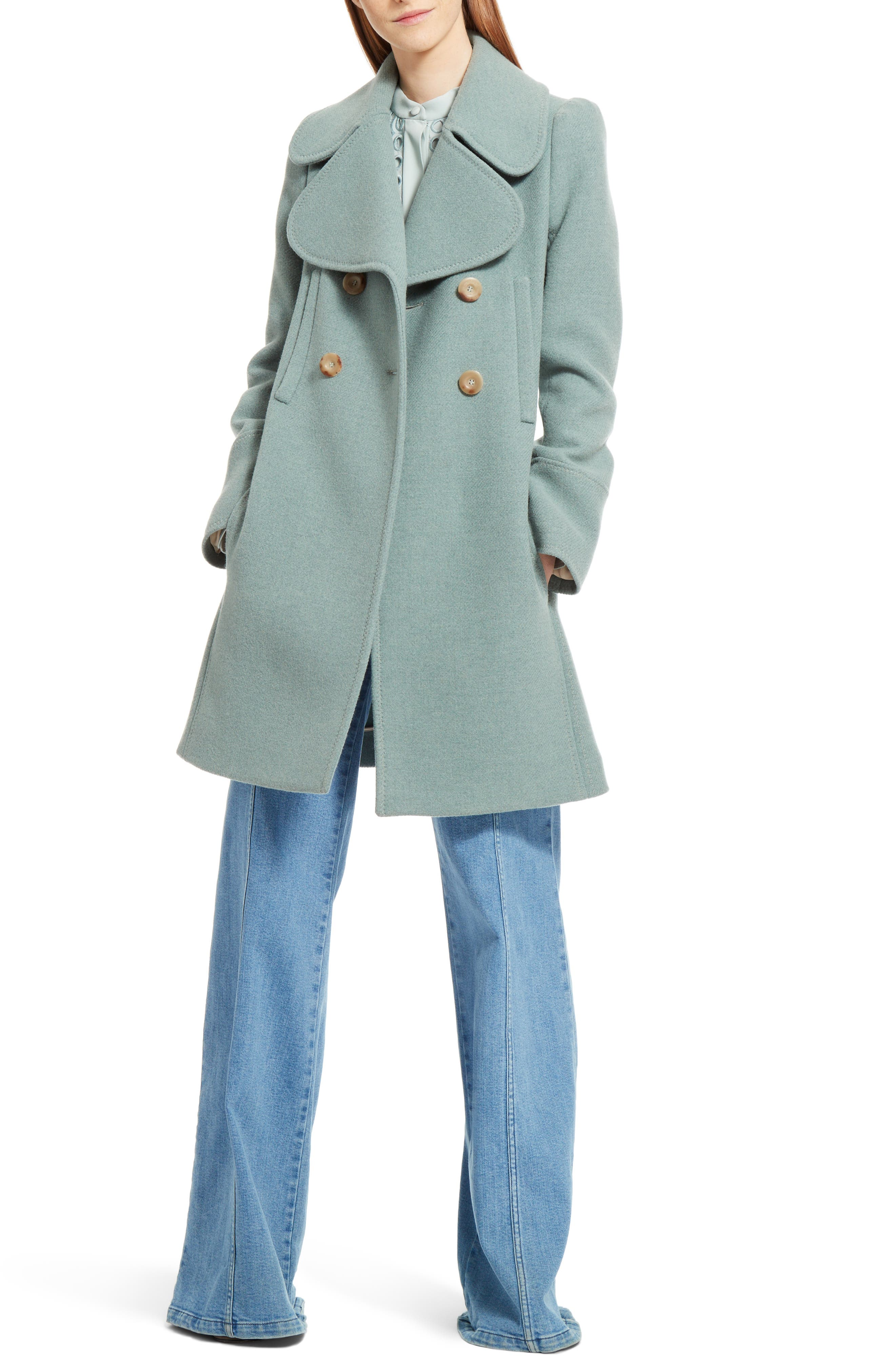 Alternate Image 7  - Chloé Iconic Wool Blend Coat