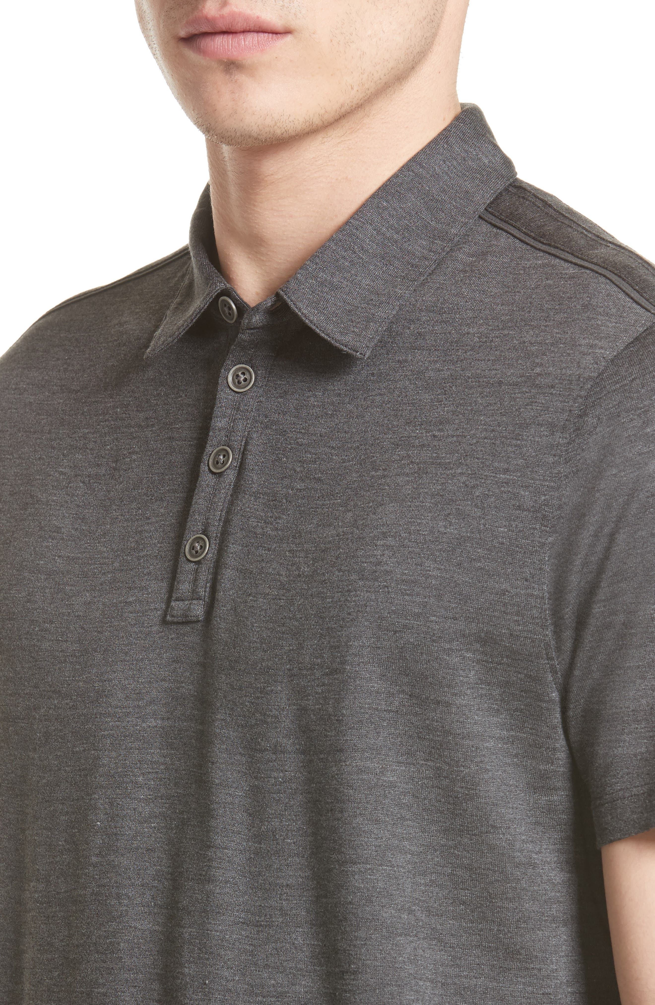 Alternate Image 4  - John Varvatos Collection 'Hampton' Silk & Cotton Polo