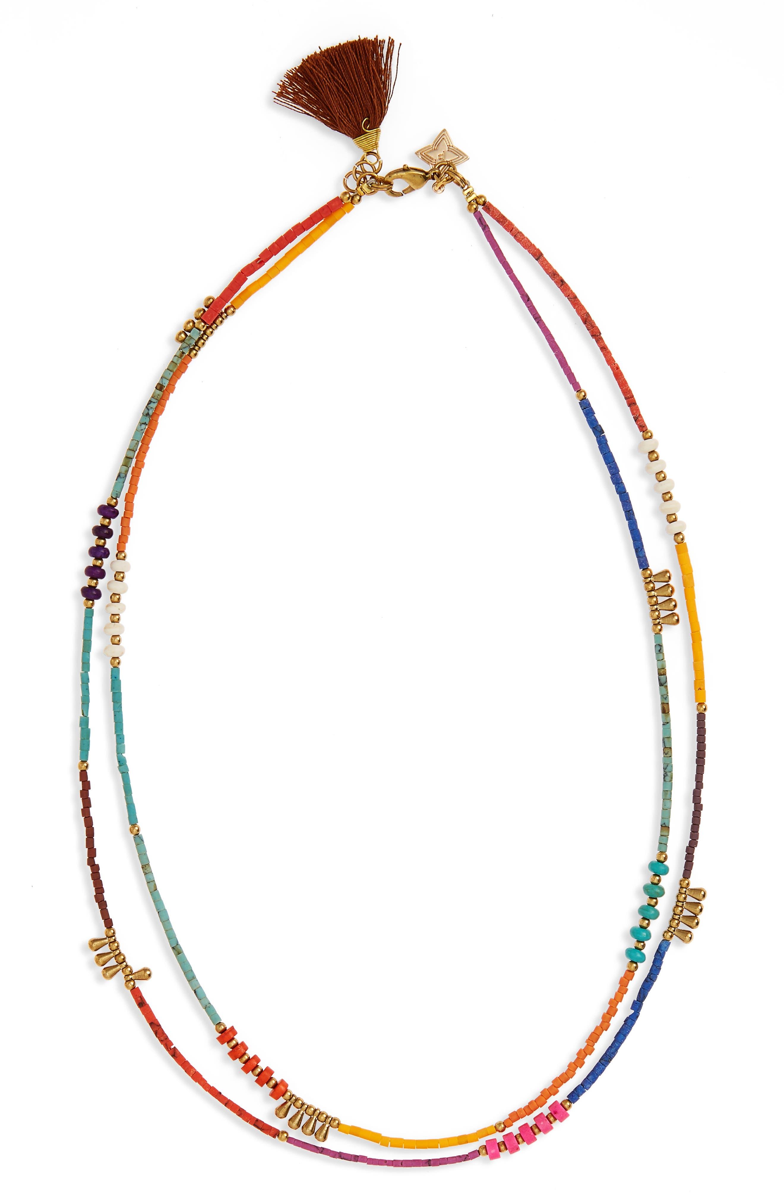 Panacea Double Row Tassel Necklace