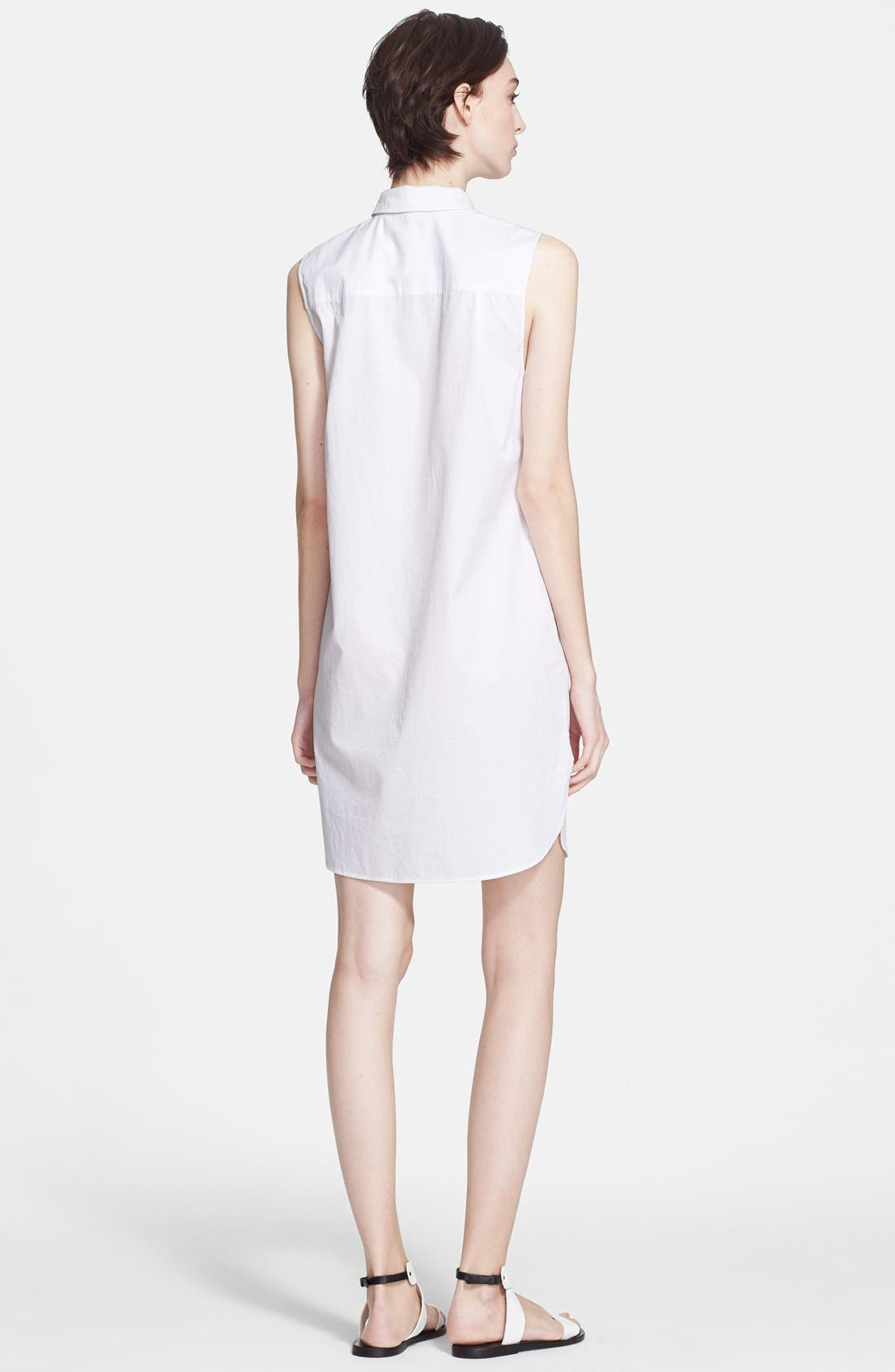 Alternate Image 2  - T by Alexander Wang Cotton Poplin Shirtdress
