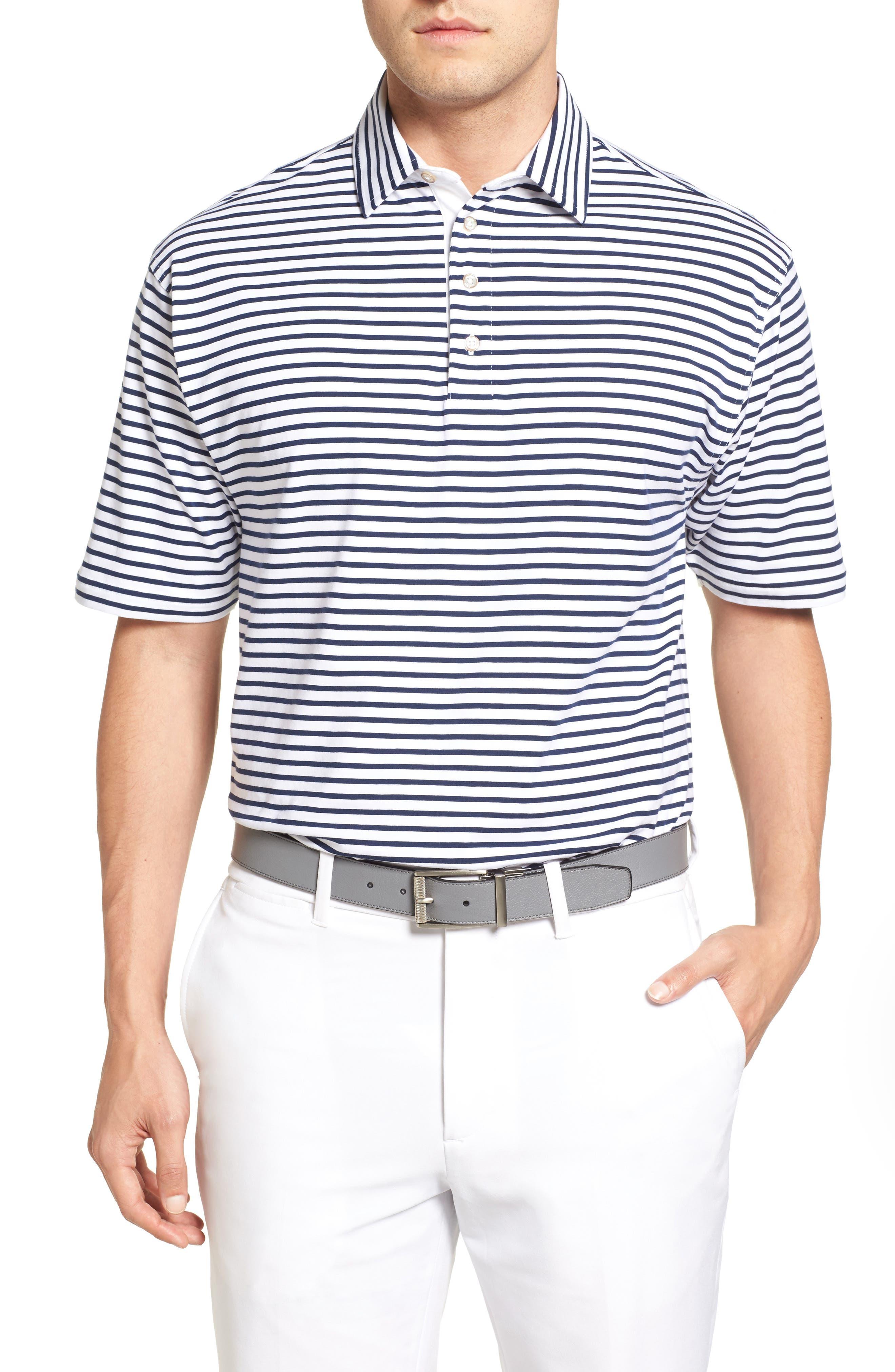 Bobby Jones Liquid Cotton Feed Stripe Polo
