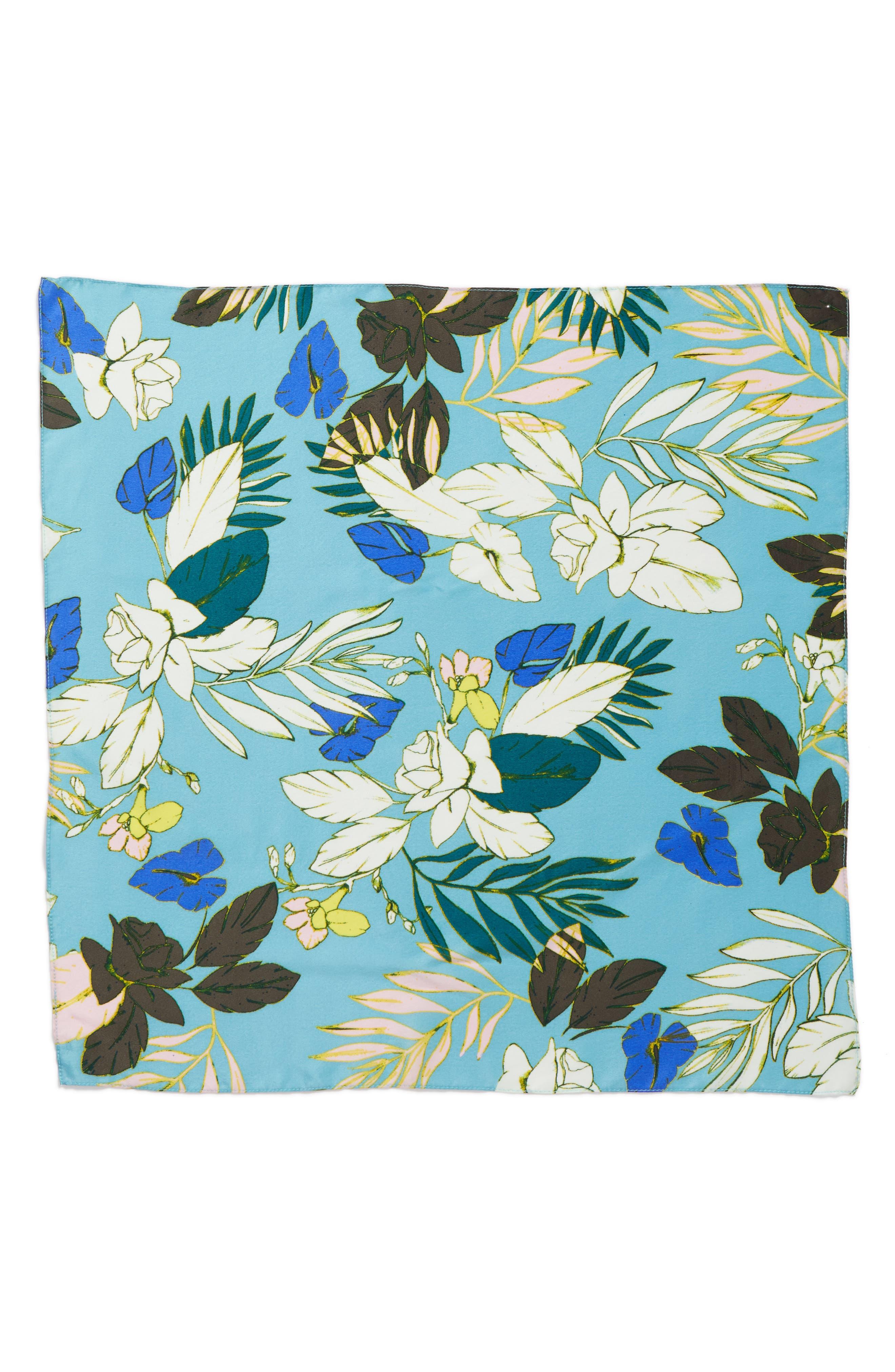 Alternate Image 2  - Halogen® Paradise Floral Silk Square Scarf