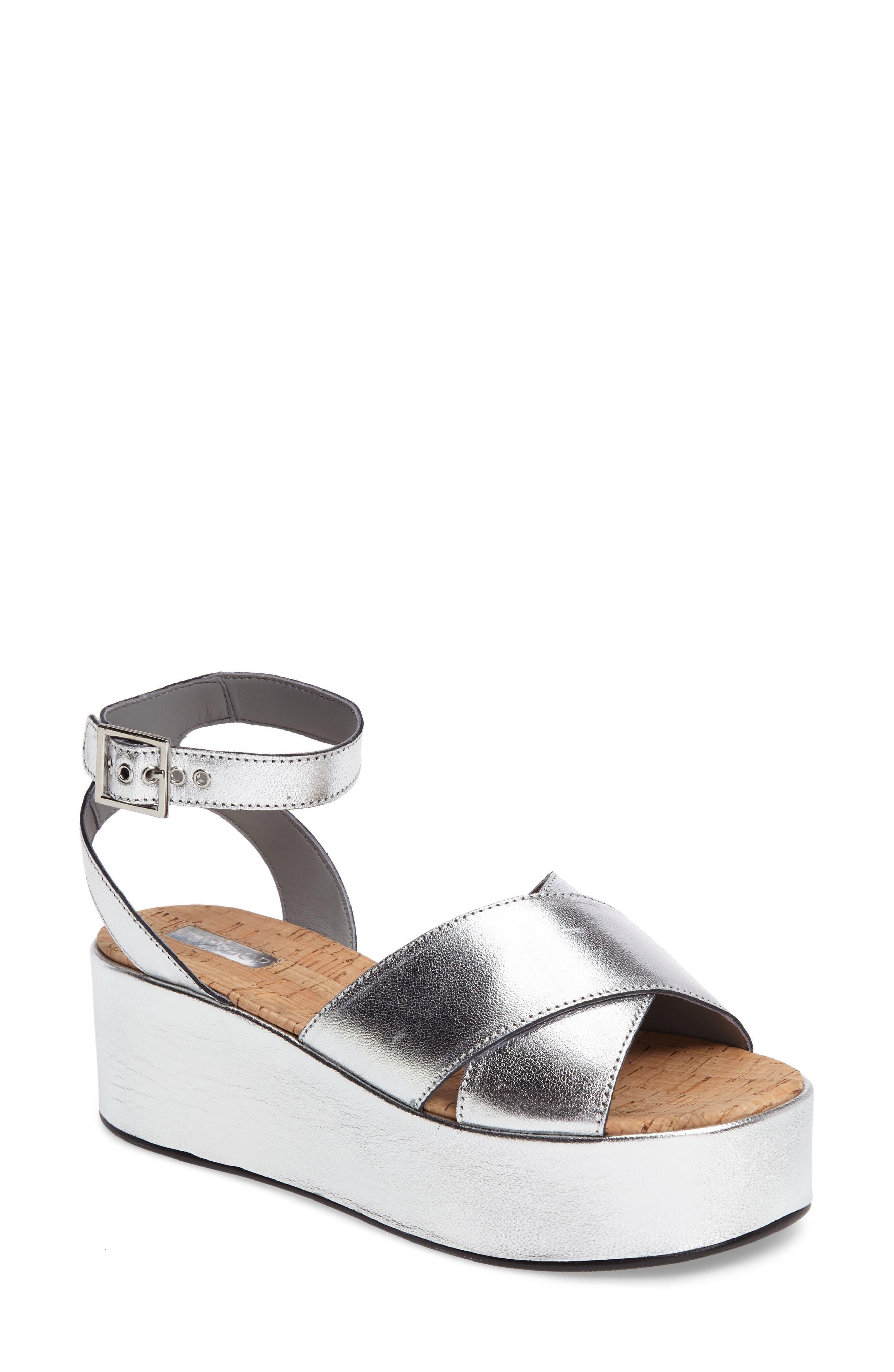 Topshop Whisper Platform Sandal (Women)
