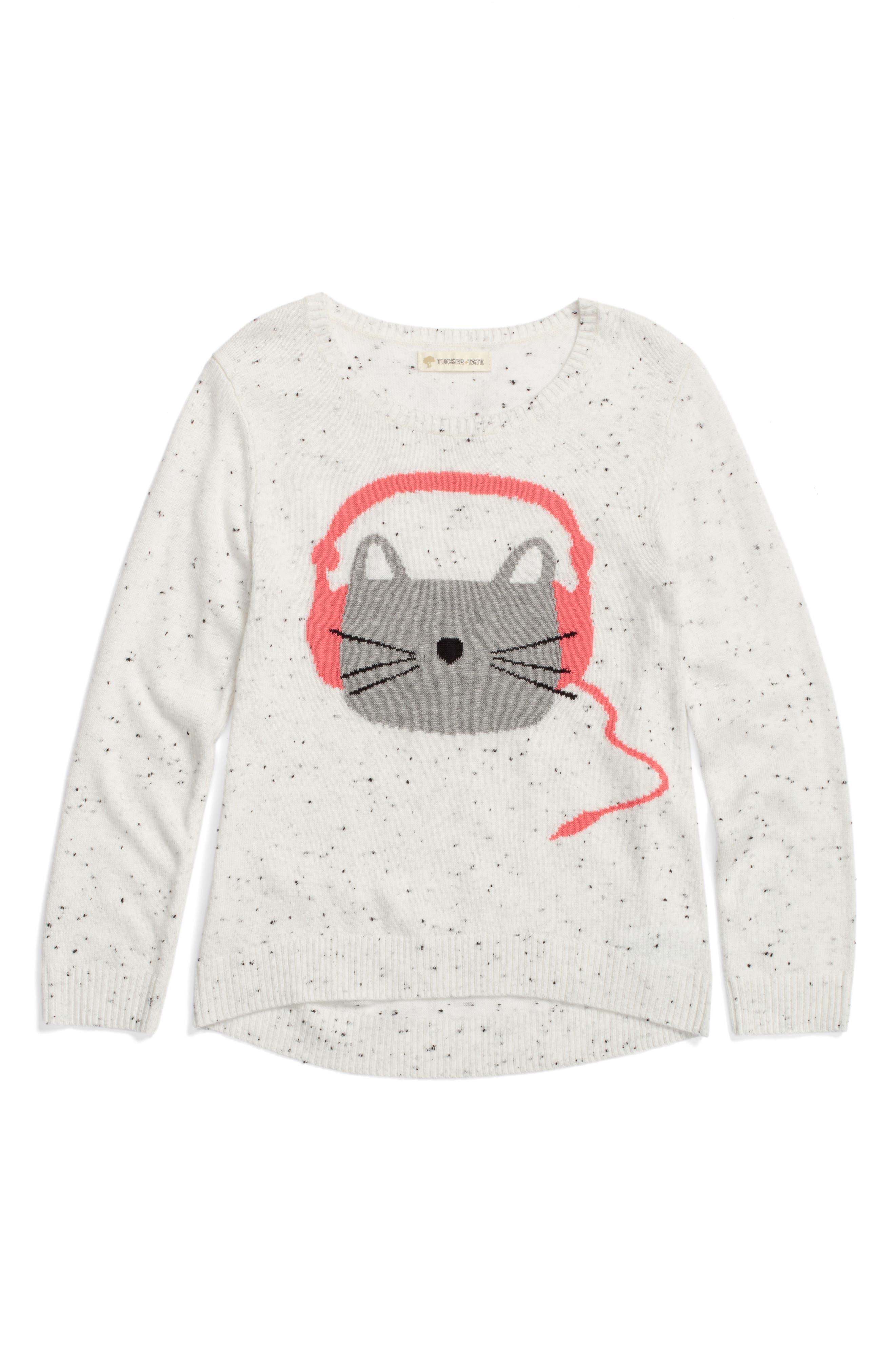 Main Image - Tucker + Tate Icon Sweater (Toddler Girls, Little Girls & Big Girls)