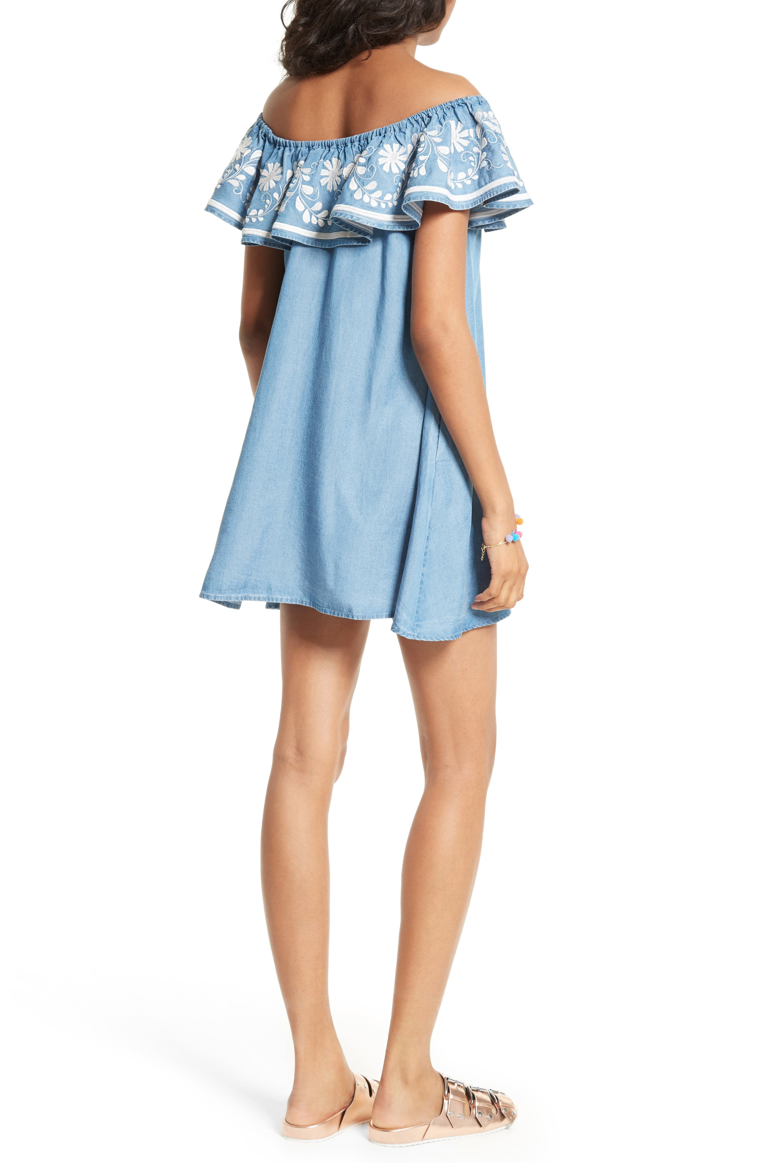 Alternate Image 2  - Rebecca Minkoff Dev Off the Shoulder Minidress