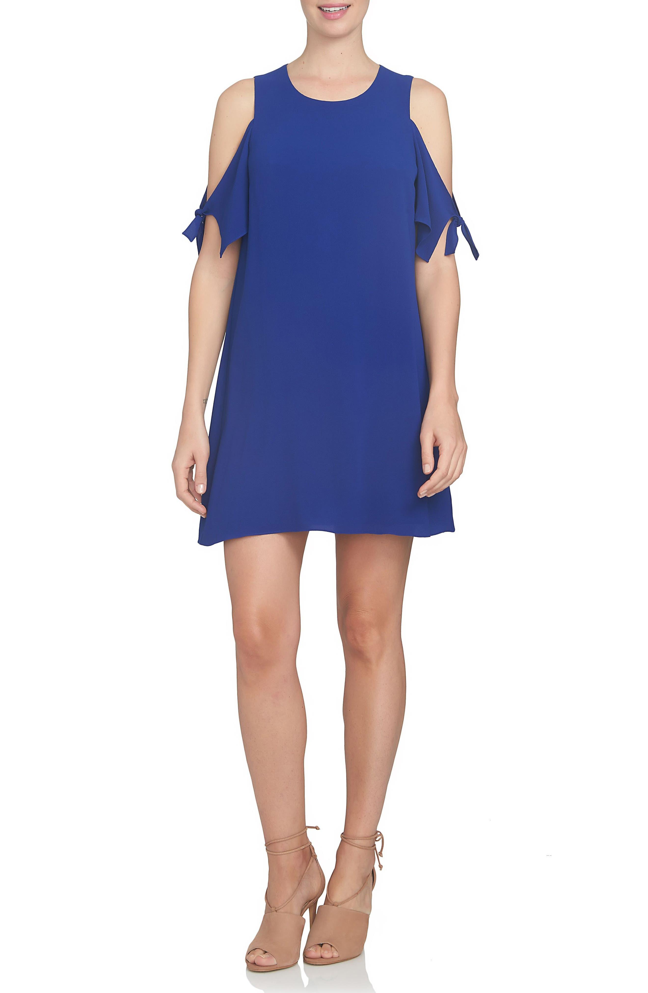 CeCe Cold Shoulder Shift Dress