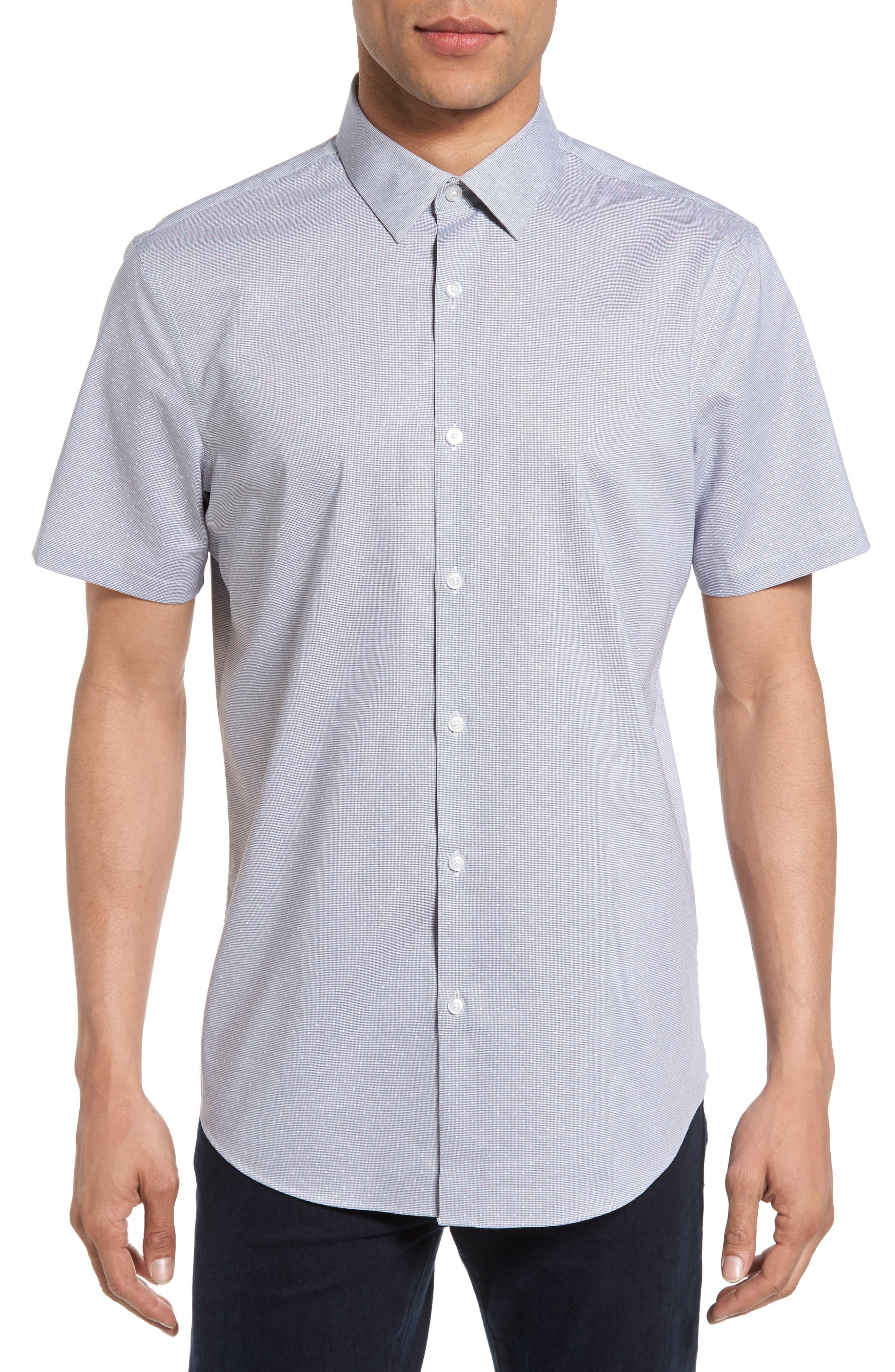 Calibrate No-Iron Dot Jacquard Woven Shirt