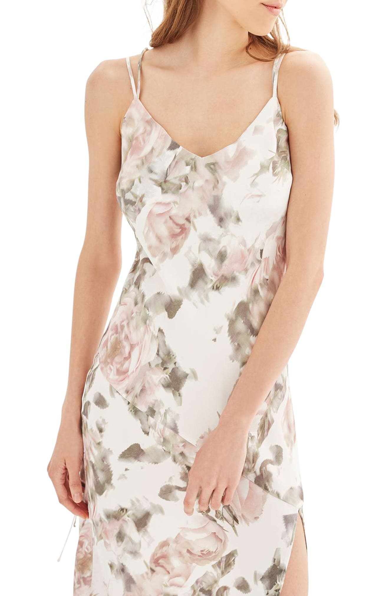 Alternate Image 1 Selected - Topshop Bride Asymmetrical Slipdress