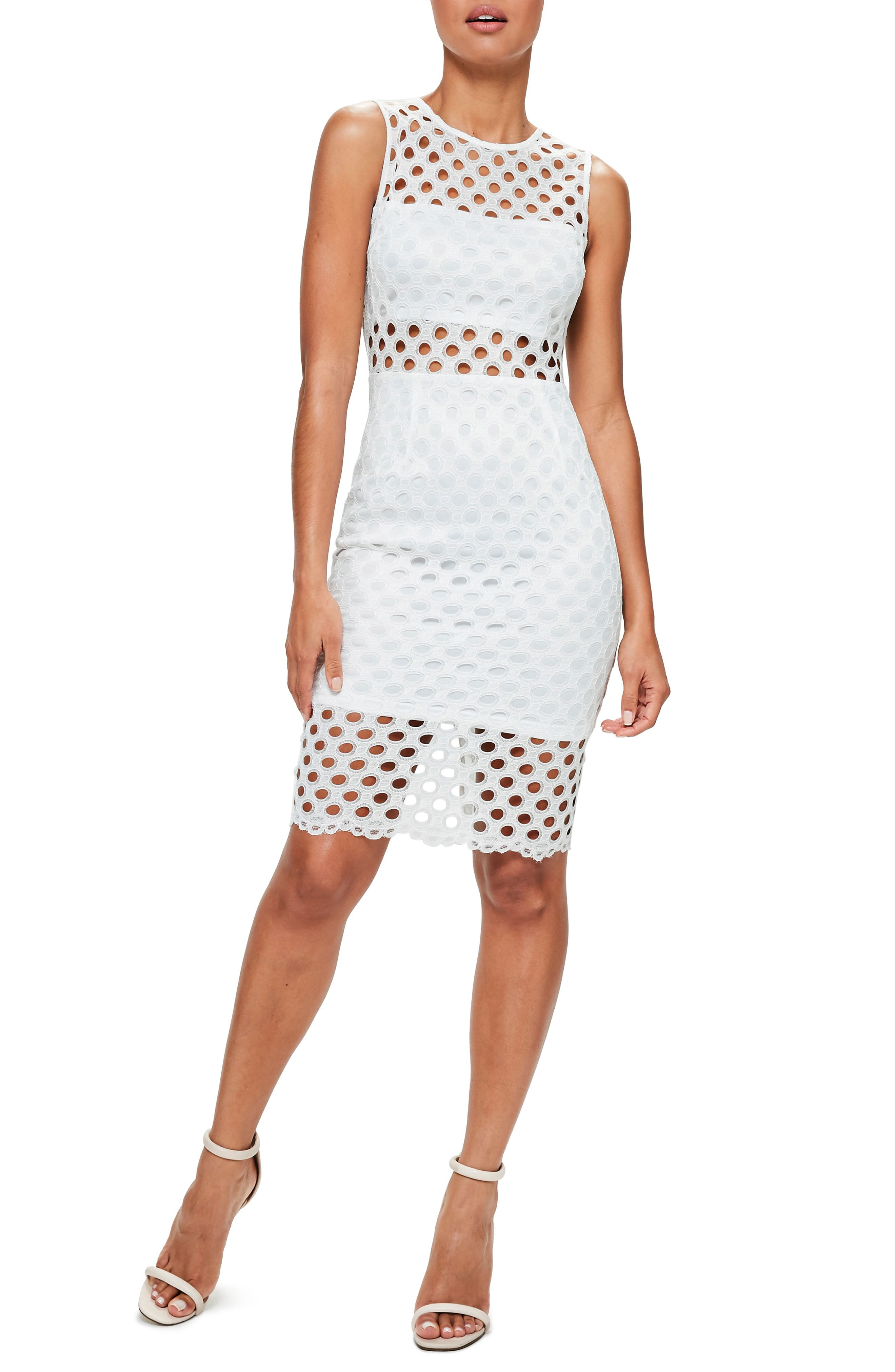 Missguided Circle Lace Dress