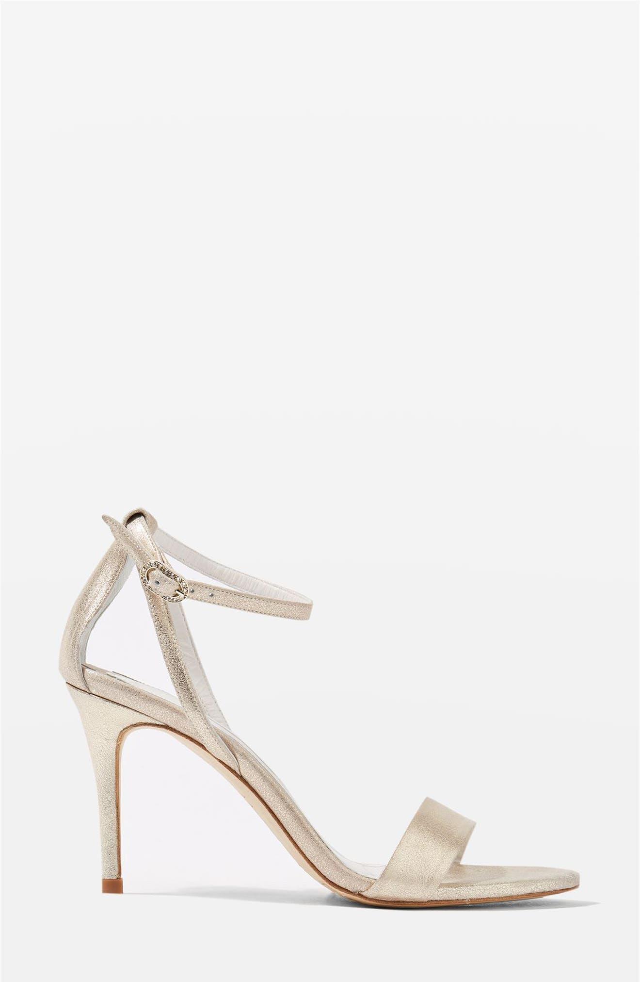 Topshop Bride Betsy Ankle Strap Sandals (Women)