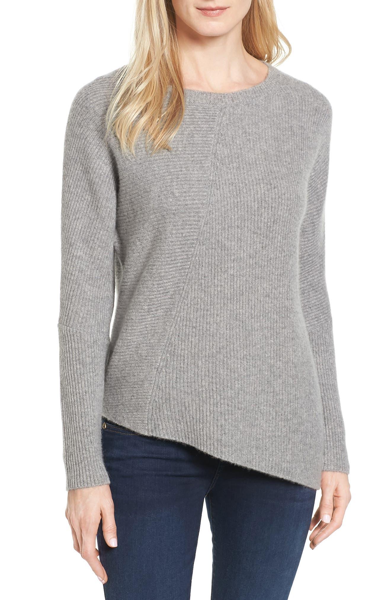 Halogen® Wool & Cashmere Tunic Sweater