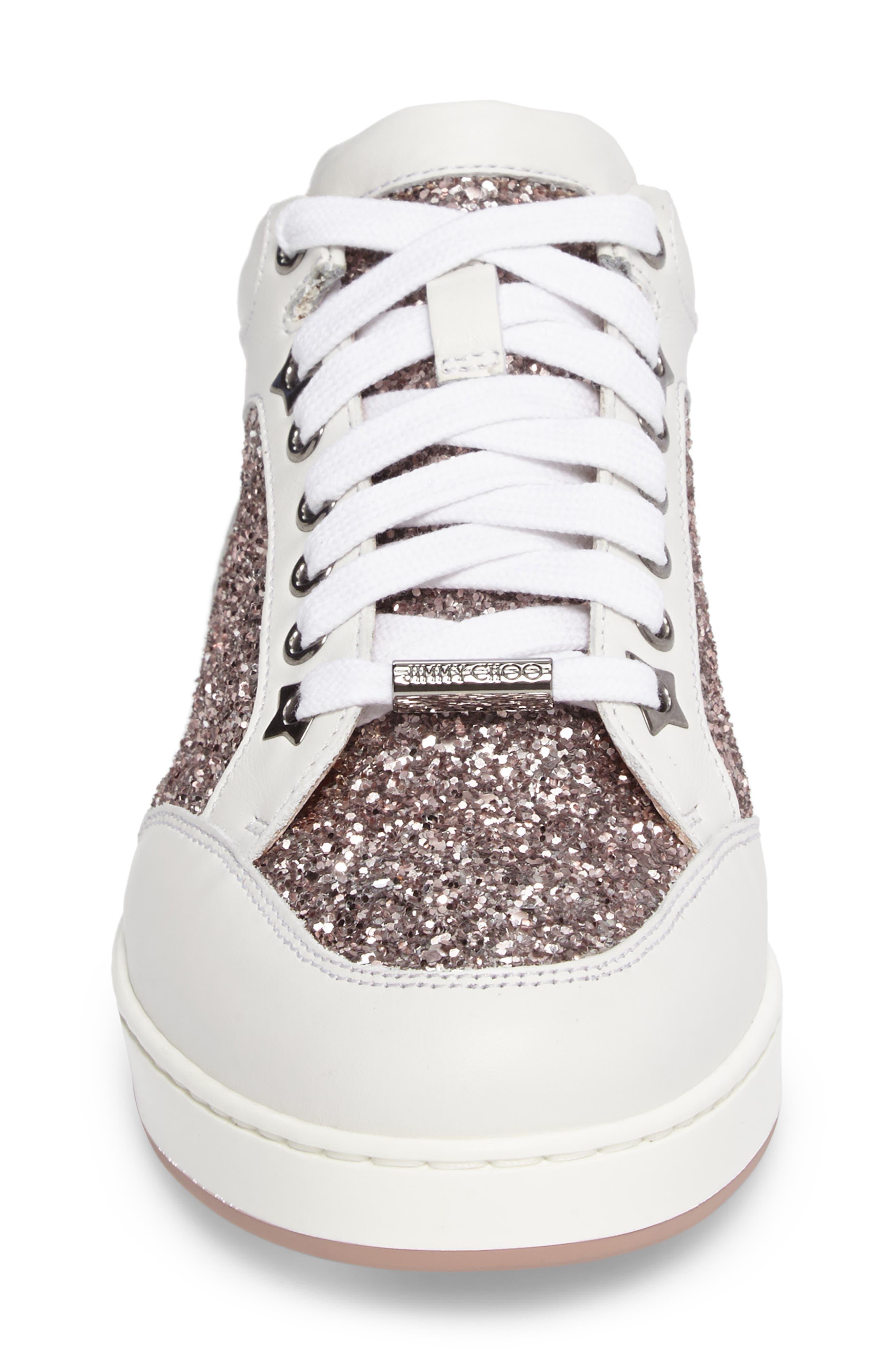 Alternate Image 4  - Jimmy Choo Miami Glitter Sneaker (Women)