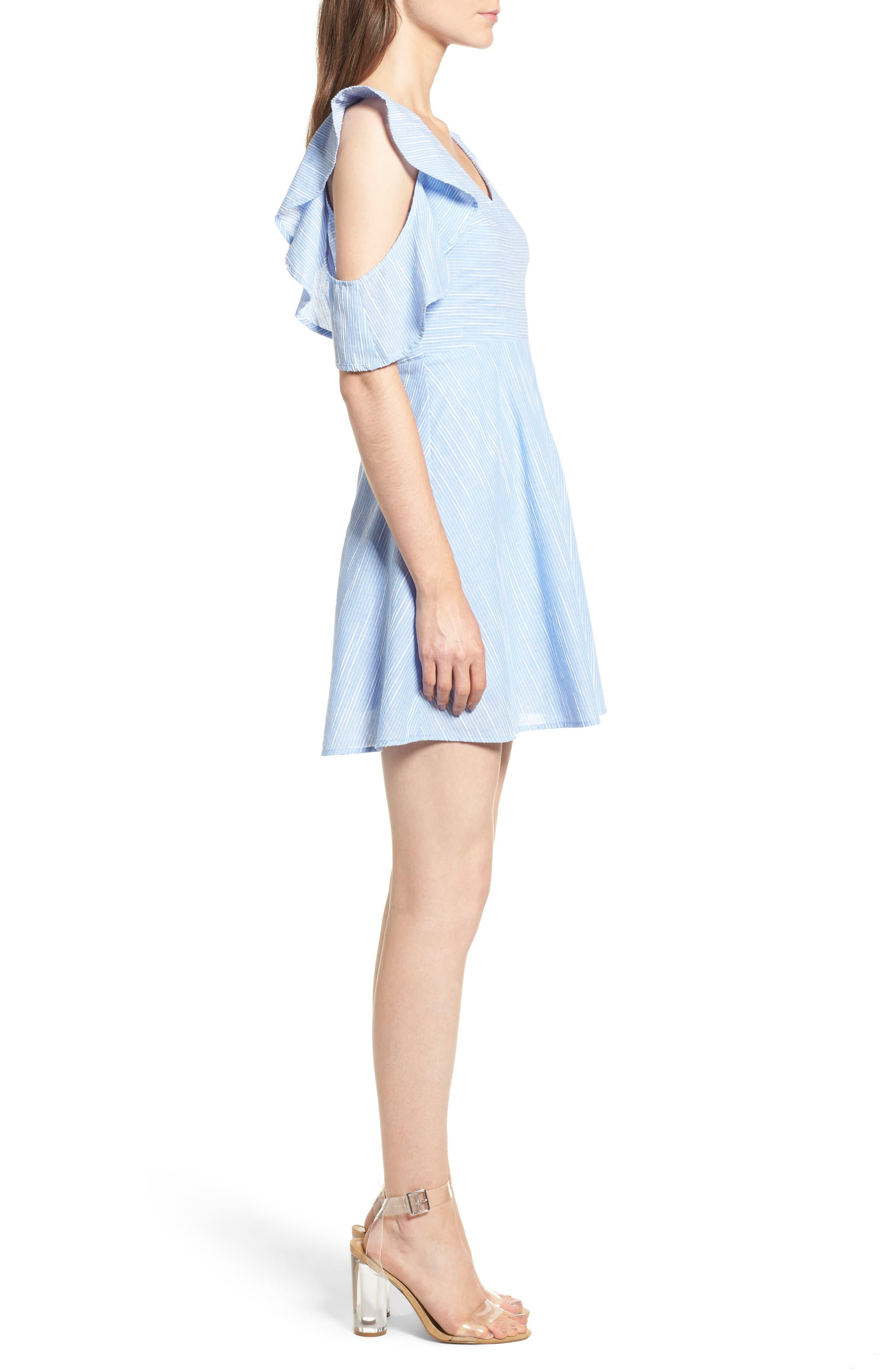 Alternate Image 3  - J.O.A. Cotton Cold Shoulder Skater Dress