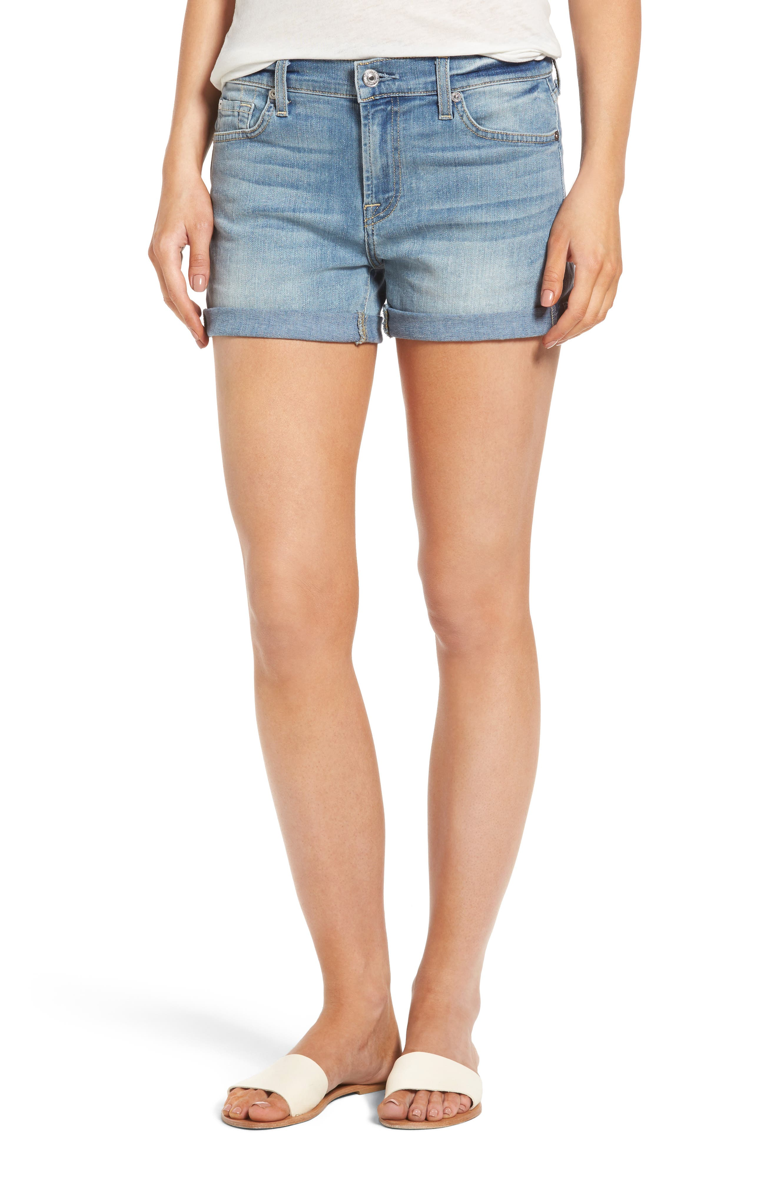 7 For All Mankind® Roll Cuff Denim Shorts (Crescent Valley)