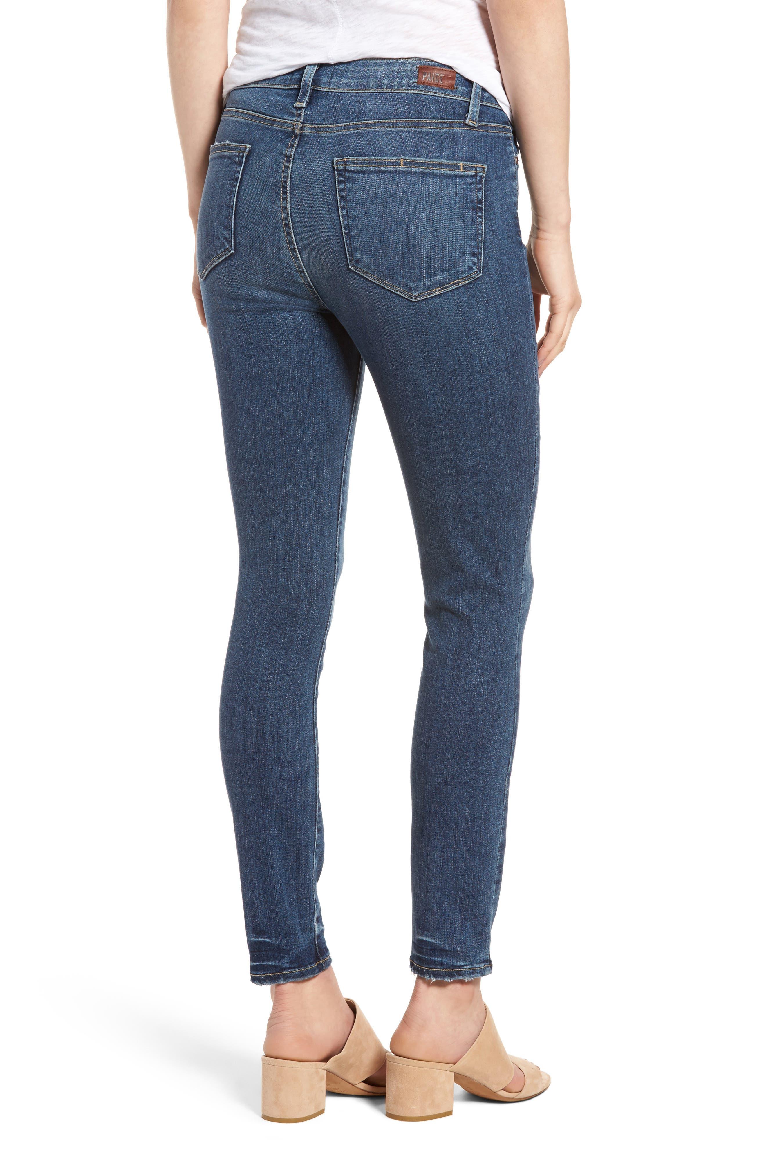 Alternate Image 2  - PAIGE Hoxton High Waist Ankle Skinny Jeans (Kiana)