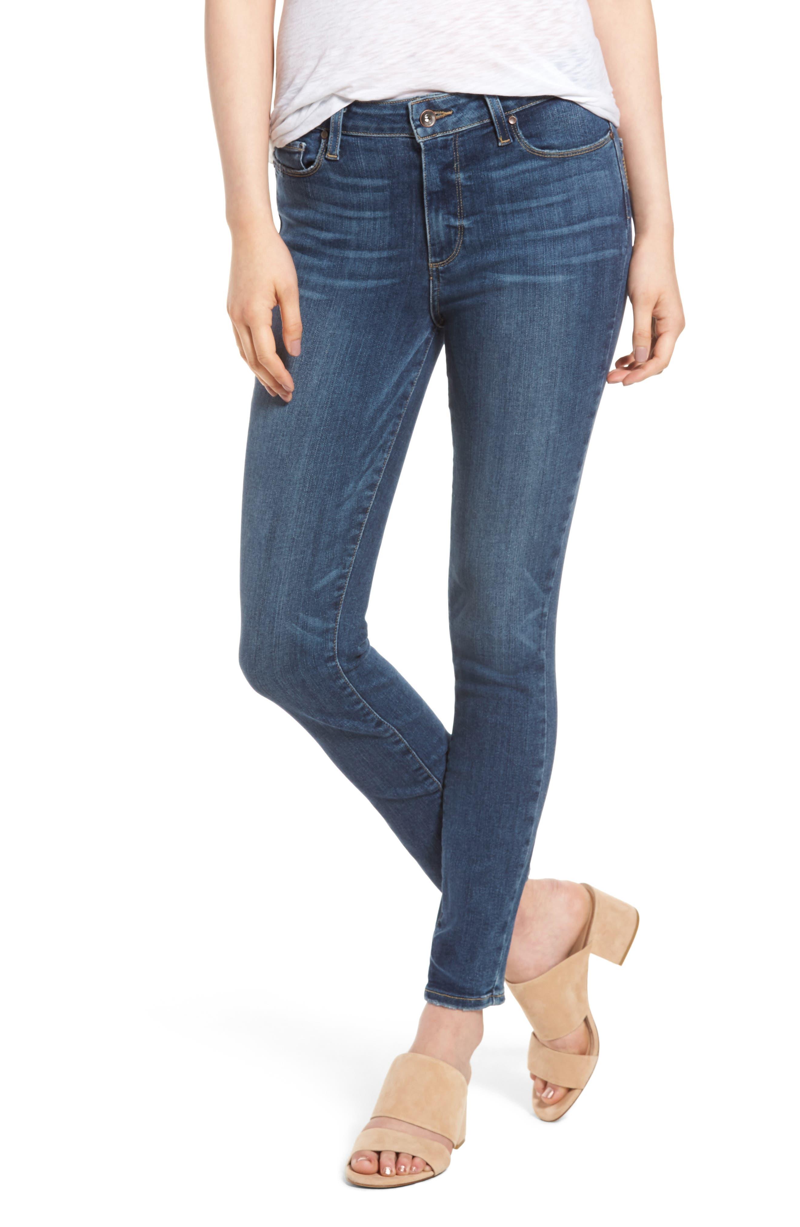 Alternate Image 1 Selected - PAIGE Hoxton High Waist Ankle Skinny Jeans (Kiana)
