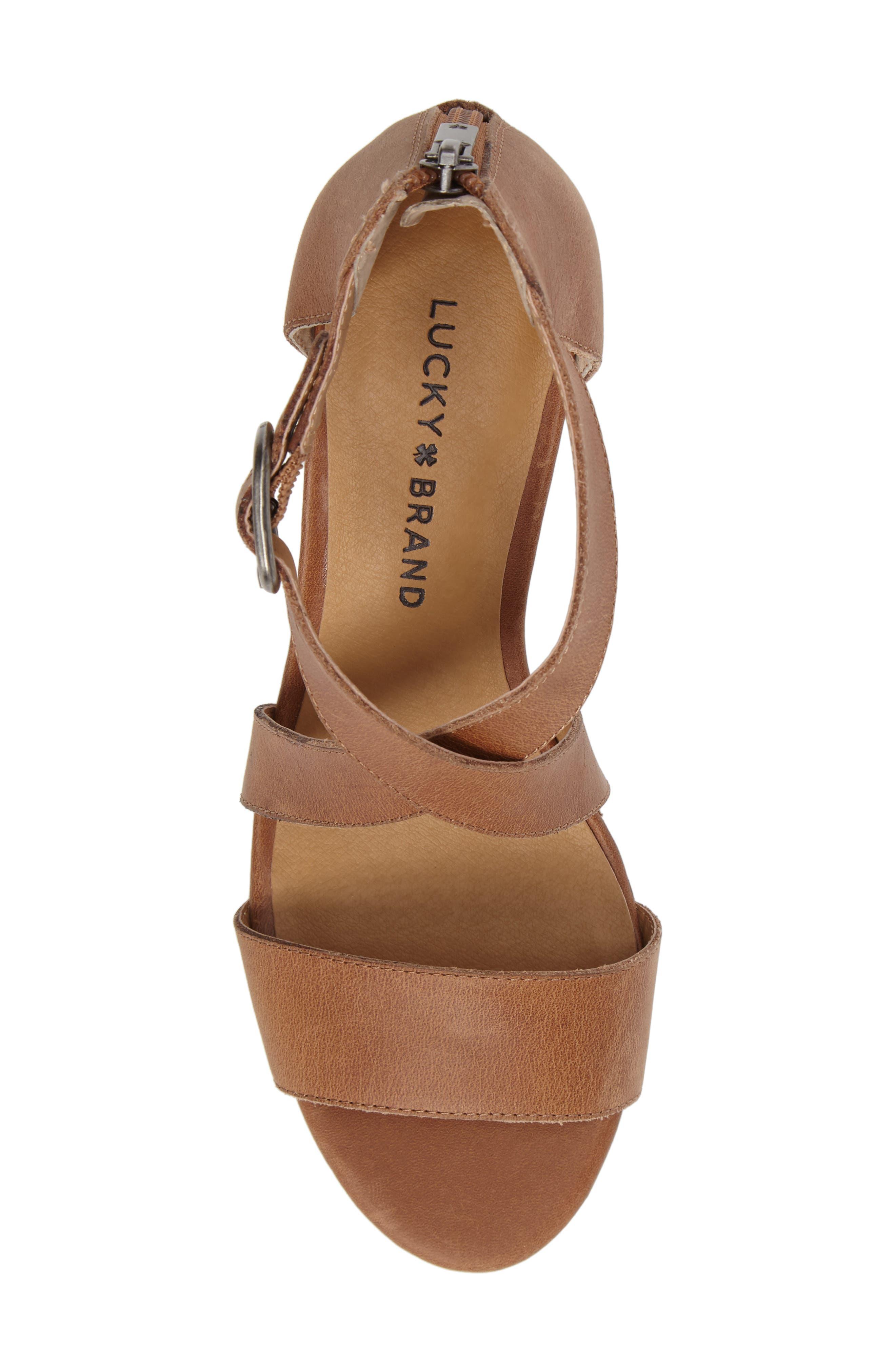Alternate Image 5  - Lucky Brand Jenley Wedge Sandal (Women)