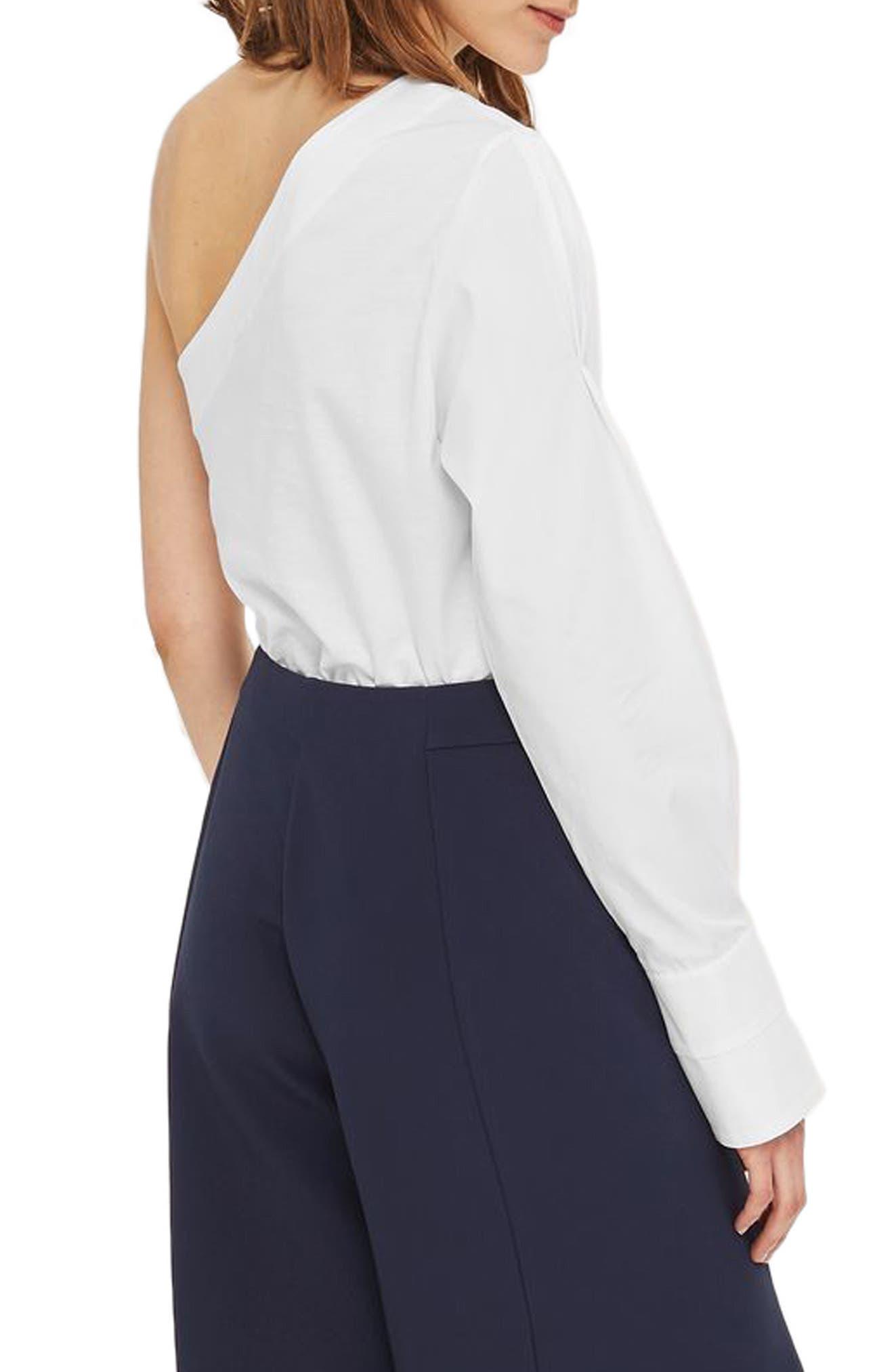 Alternate Image 3  - Topshop One-Shoulder Jersey Top