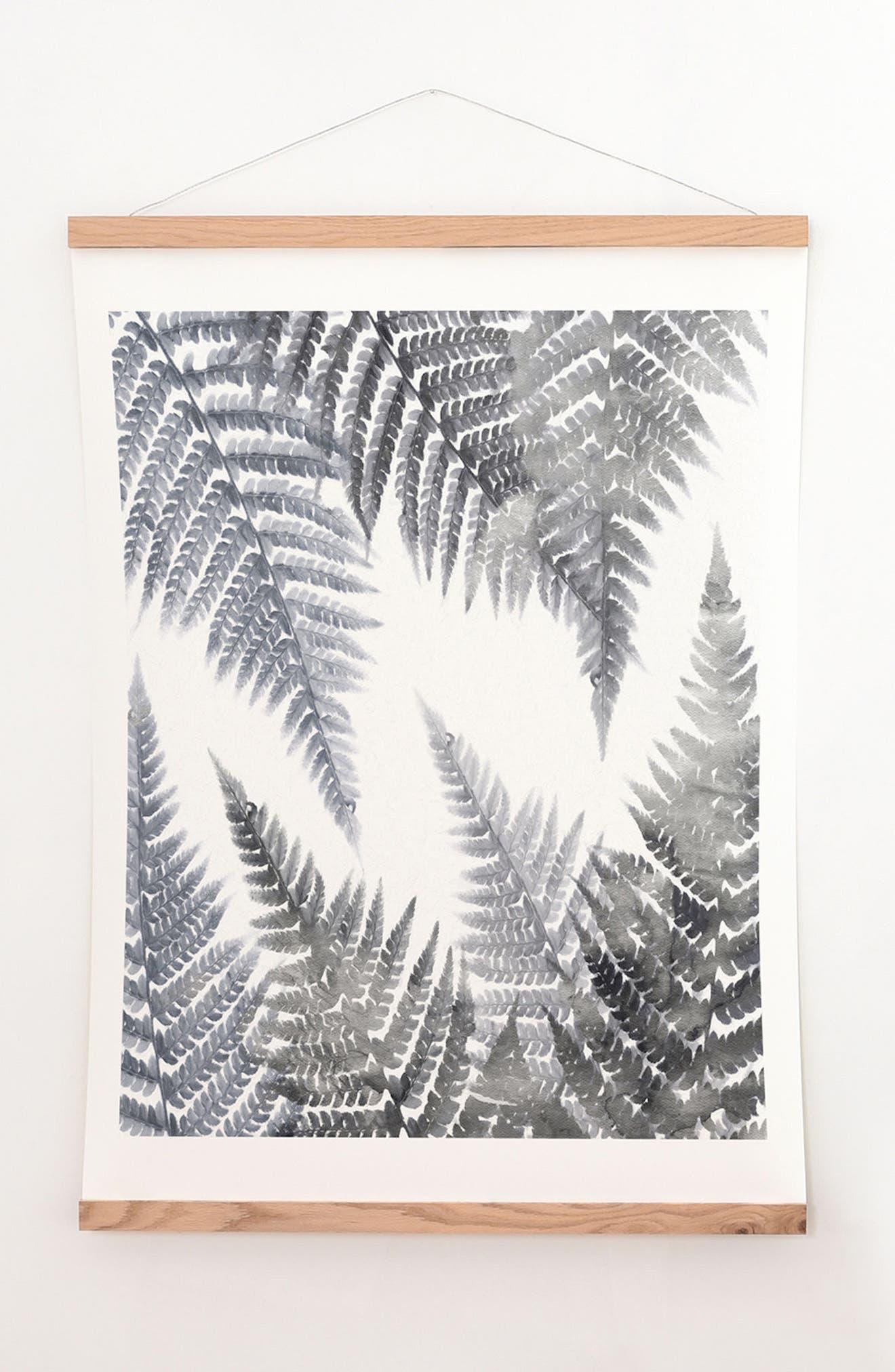 Alternate Image 1 Selected - DENY Designs Fern Print & Oak Hanger