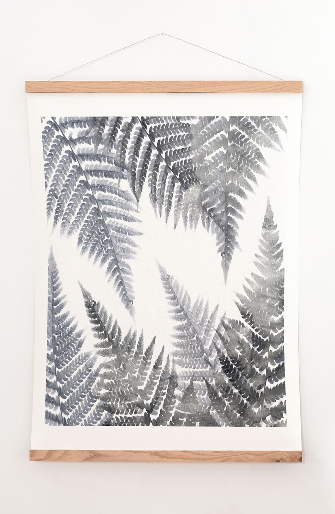Main Image - DENY Designs Fern Print & Oak Hanger