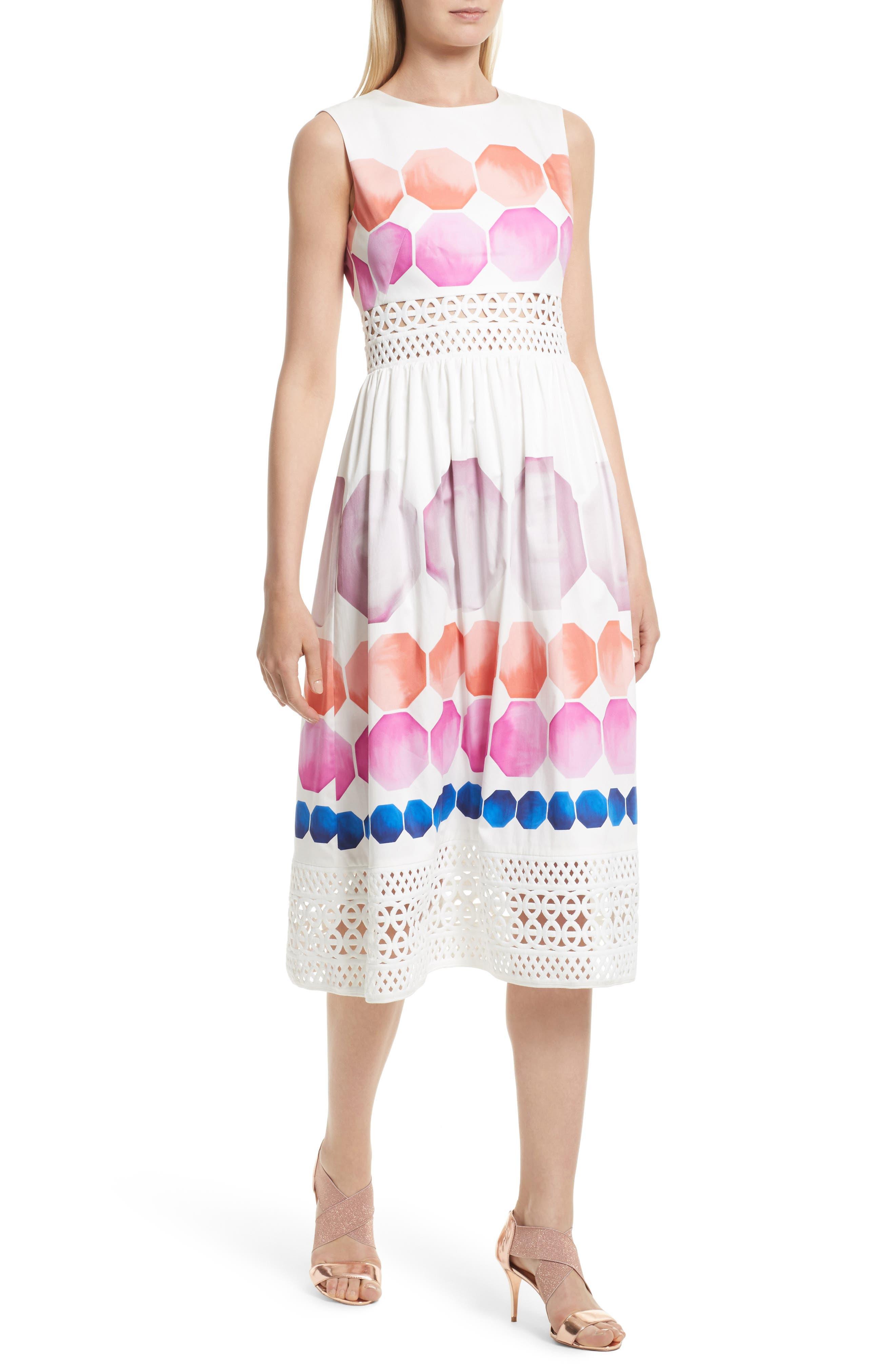 Alternate Image 5  - Ted Baker London Serinah Stretch Cotton Midi Dress