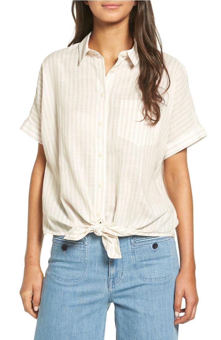 Madewell Irene Tie Front Shirt Nordstrom