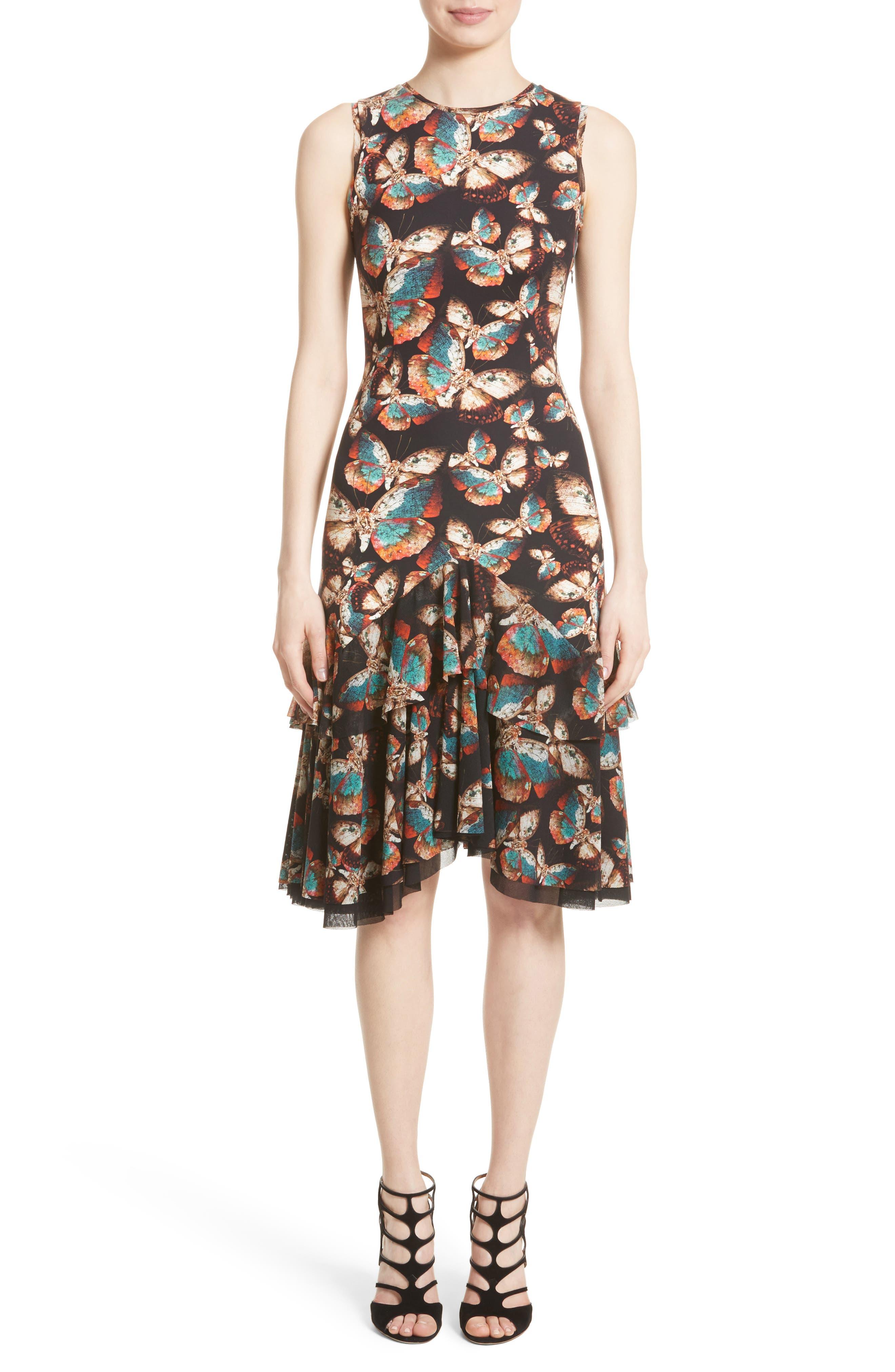 Fuzzi Tiered Tulle Dress