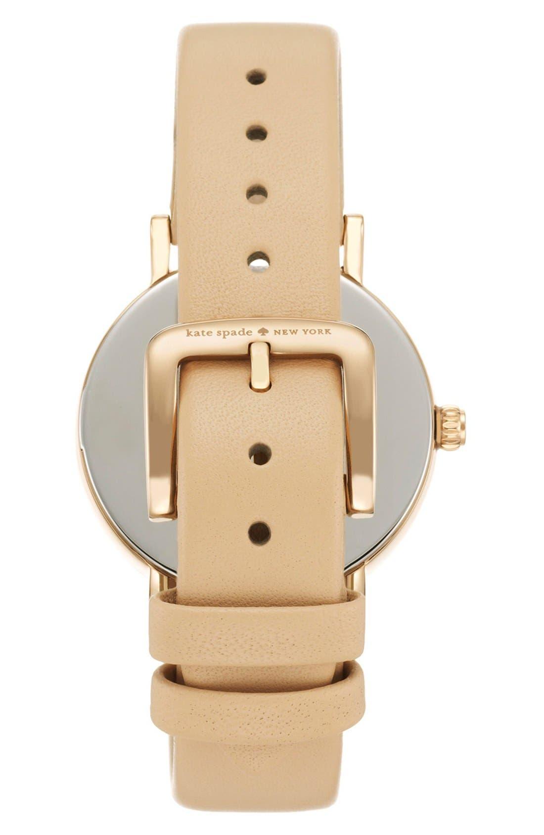 Alternate Image 2  - kate spade new york 'metro' dot dial leather strap watch, 34mm