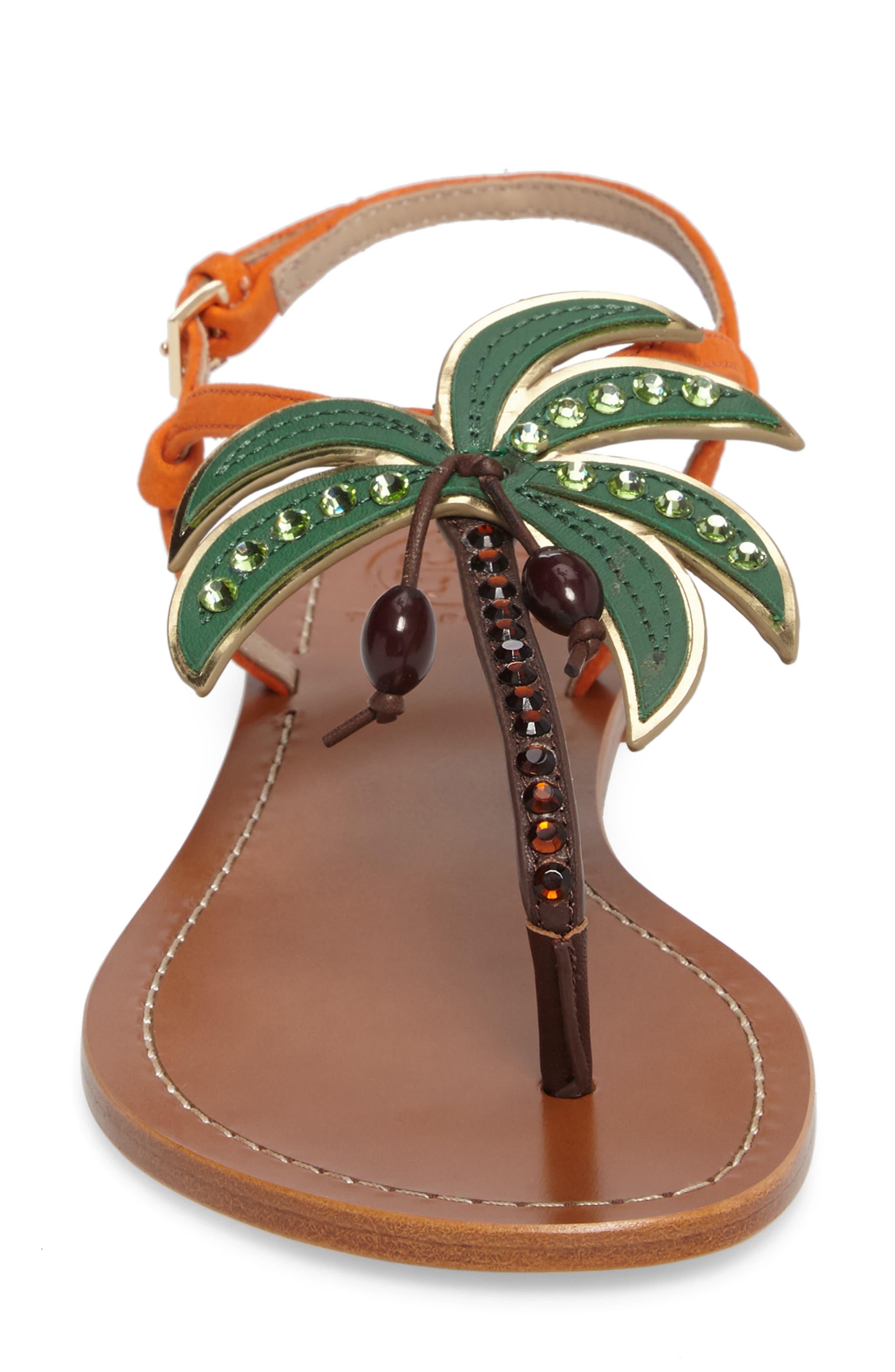 Alternate Image 4  - Tory Burch Castaway Embellished Palm Tree Sandal (Women)