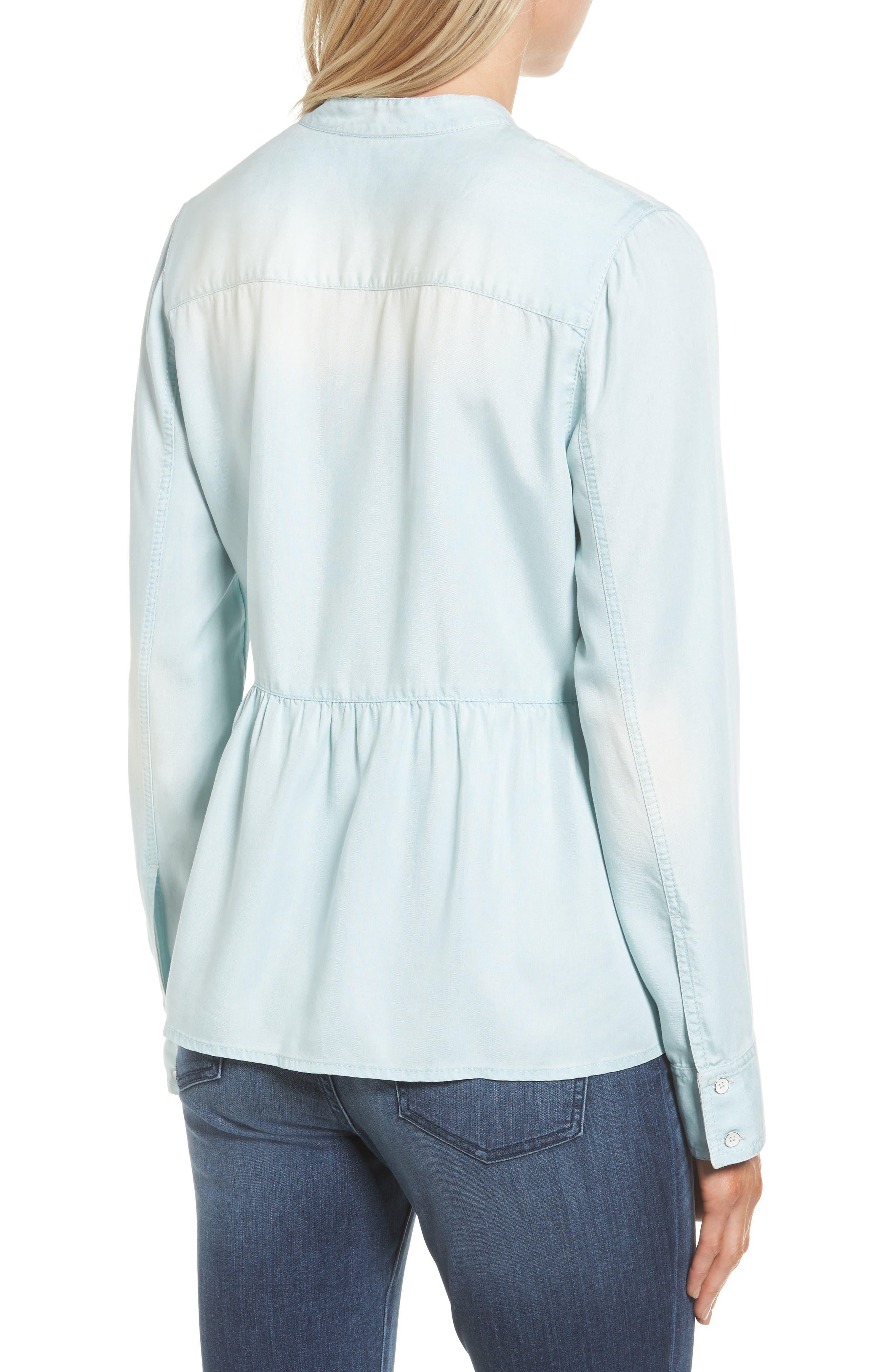Alternate Image 2  - Caslon® Peplum Shirt (Regular & Petite)