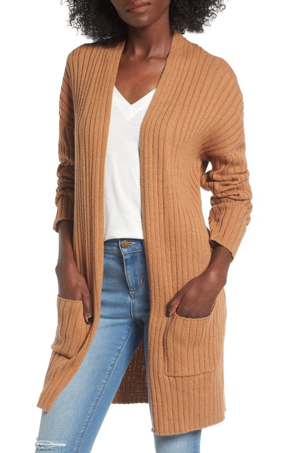 Rib Knit Cardigan - BP. Rib Knit Cardigan Nordstrom
